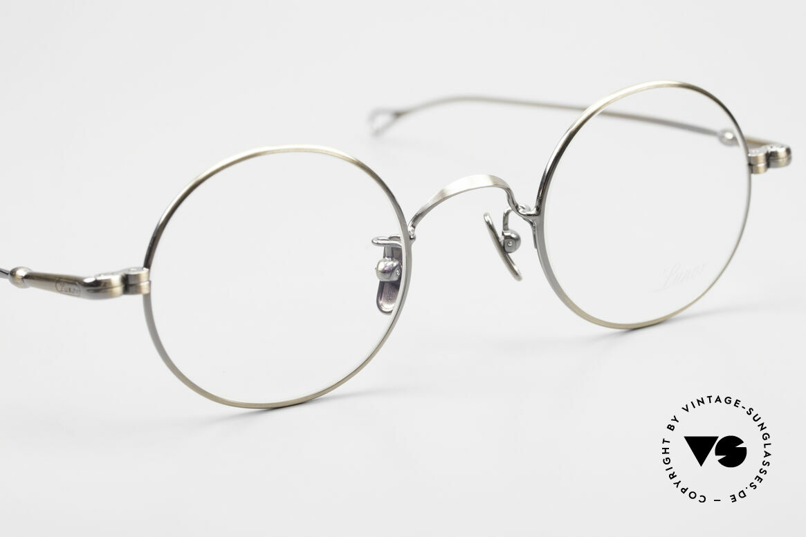 Lunor V 110 Round Lunor Glasses Vintage, from the 2011's collection, but in a well-known quality, Made for Men and Women