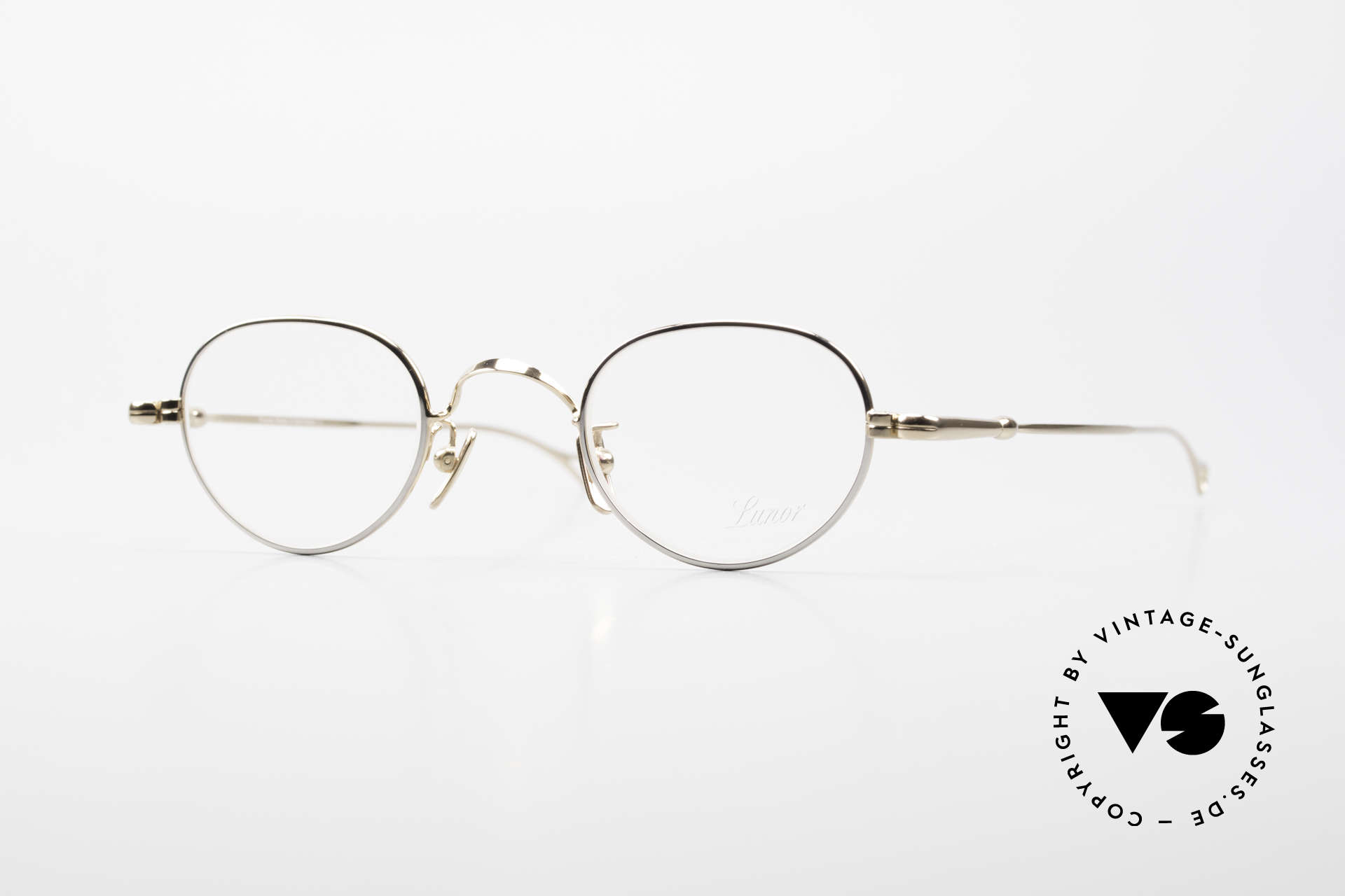 Lunor V 103 Timeless Lunor Frame Bicolor, Lunor glasses: bicolor = gold-plated & platinum plated, Made for Men and Women