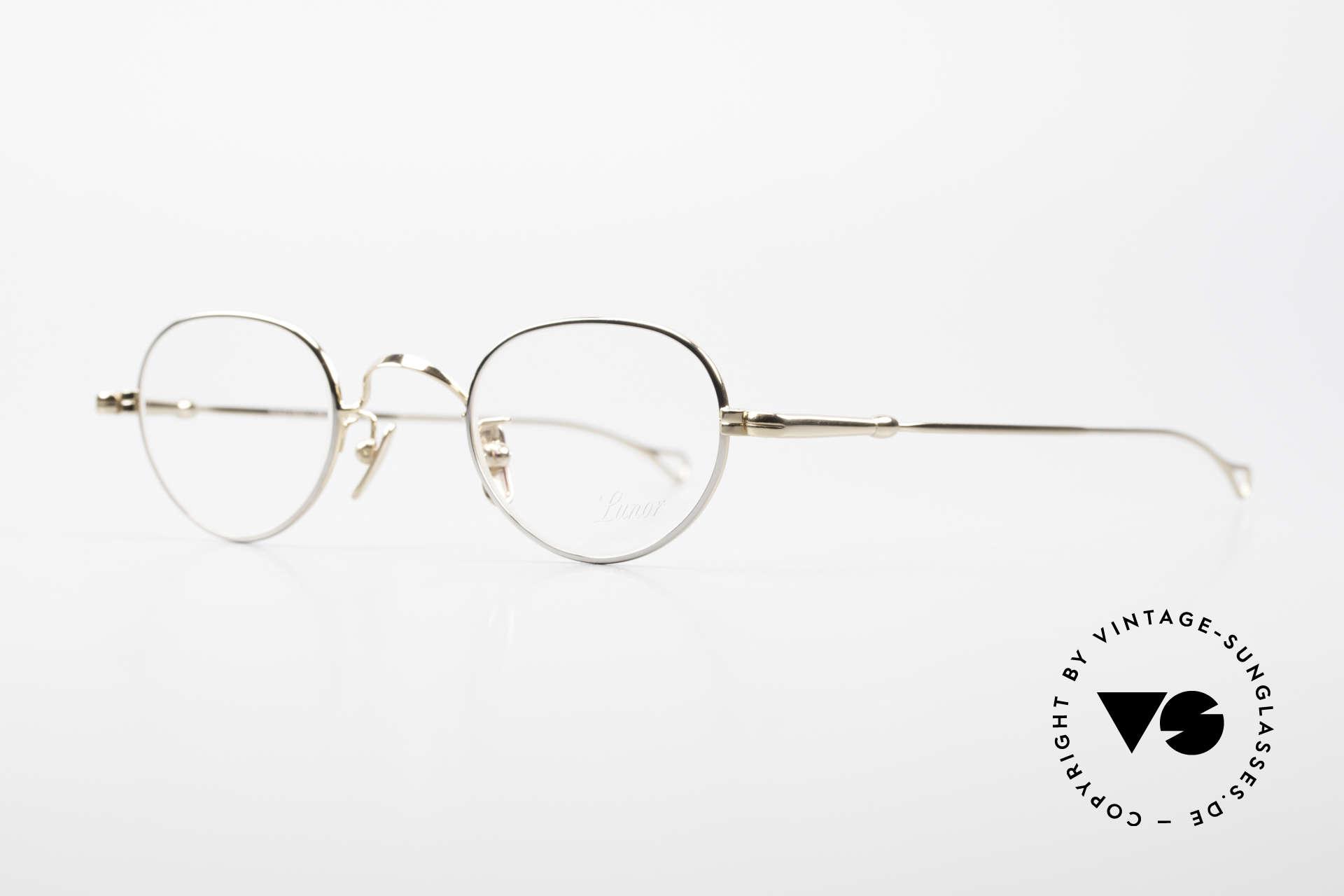 Lunor V 103 Timeless Lunor Frame Bicolor, model V103: very elegant metal glasses; size 40/23, 140, Made for Men and Women