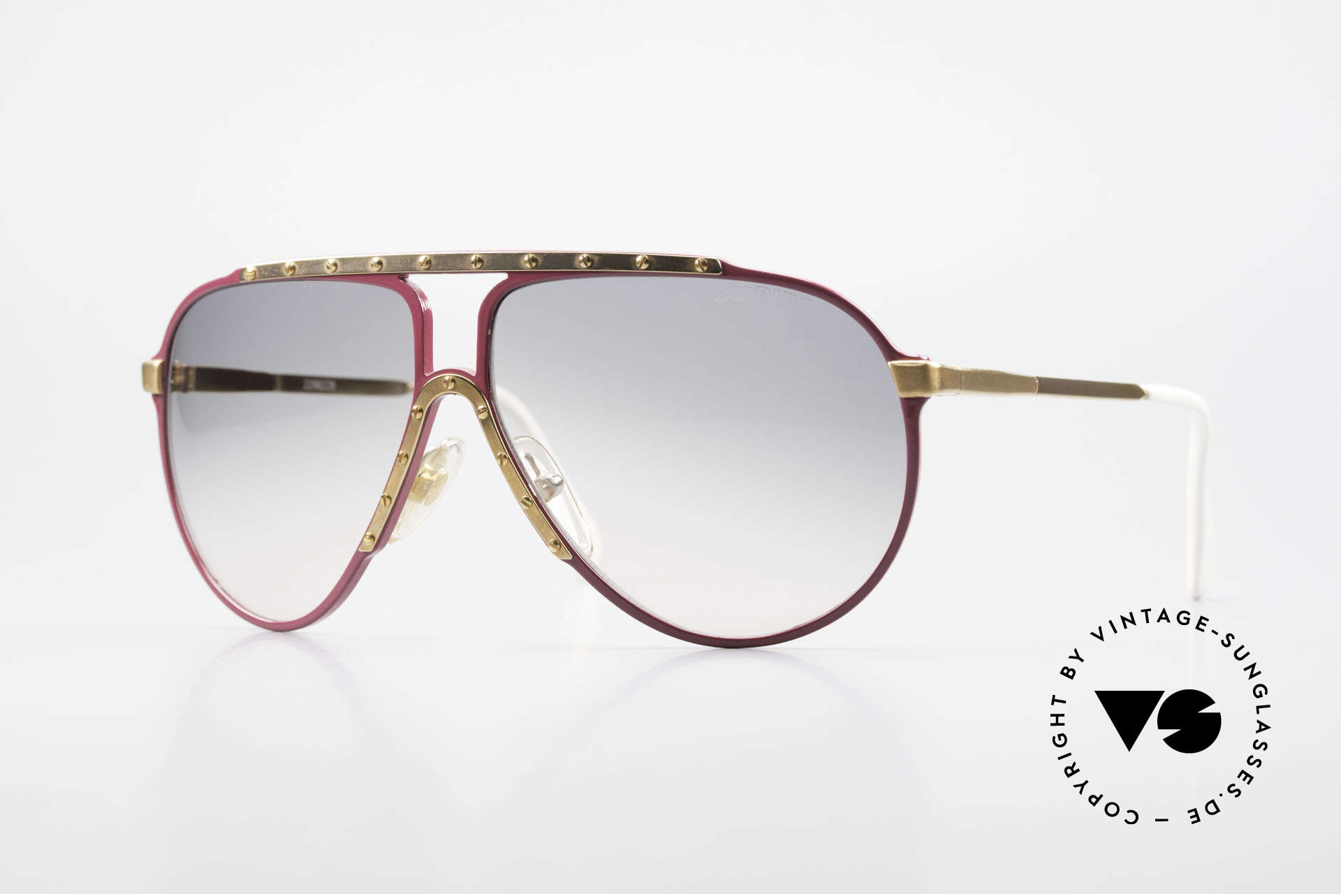 Alpina M1 Iconic Vintage Sunglasses 80s, pink Alpina M1 sunglasses in size 60°12 from 1987, Made for Women