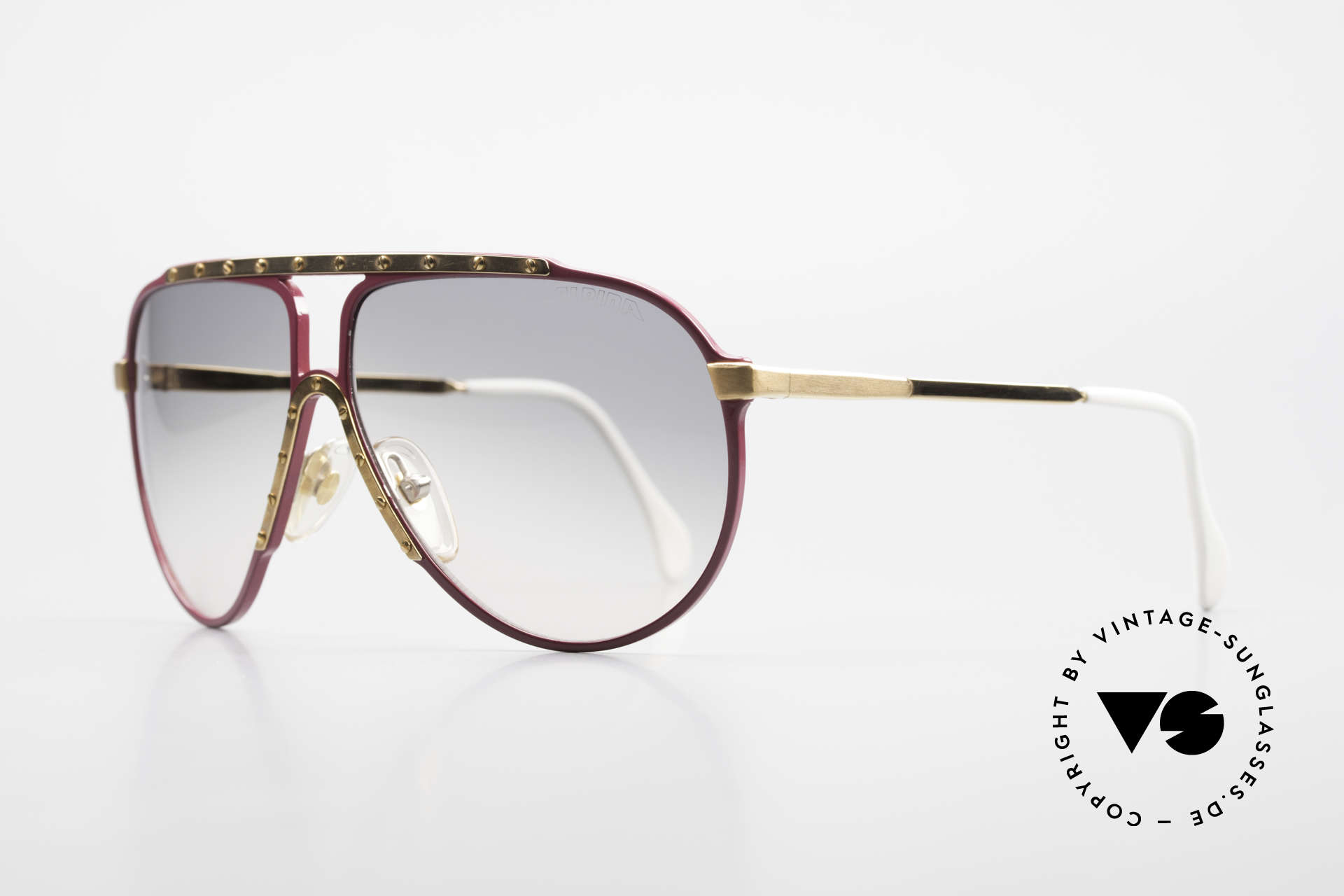 Alpina M1 Iconic Vintage Sunglasses 80s, sought-after collector's item: pink / GOLD-plated, Made for Women