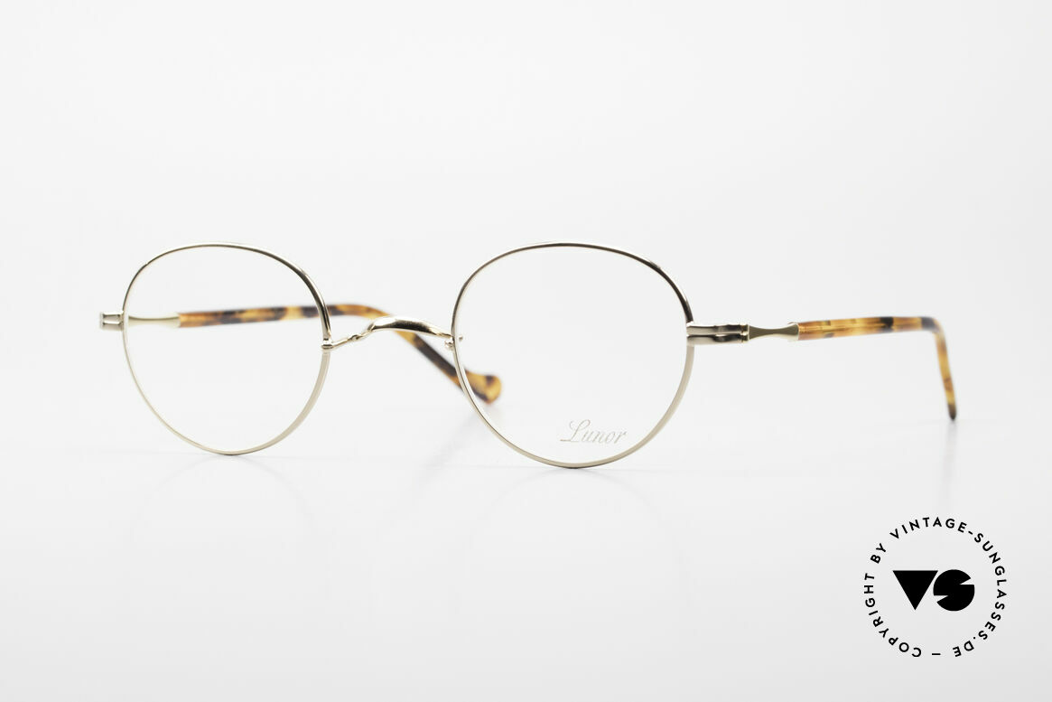 Lunor II A 22 Round Lunor Specs Gold Plated, Lunor glasses of the II-A series: metal & acetate combi, Made for Men and Women