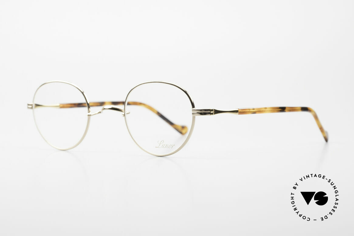 Lunor II A 22 Round Lunor Specs Gold Plated, a true classic by LUNOR: timeless, precious and unisex, Made for Men and Women