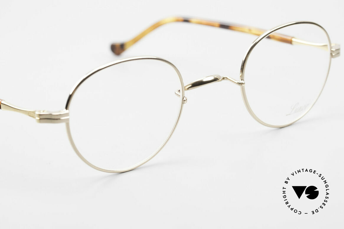 Lunor II A 22 Round Lunor Specs Gold Plated, unworn RARITY (for all lovers of quality) from app. 2010, Made for Men and Women