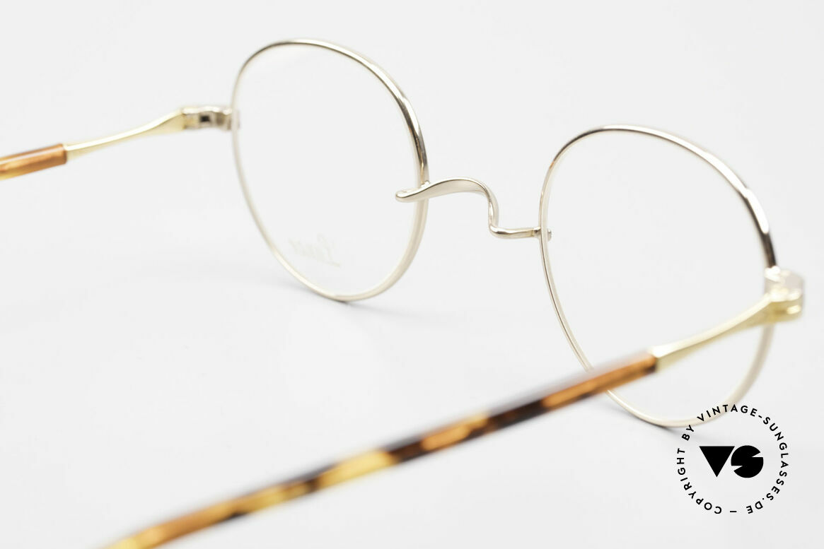 Lunor II A 22 Round Lunor Specs Gold Plated, full rimmed frame can be glazed with lenses of any kind, Made for Men and Women