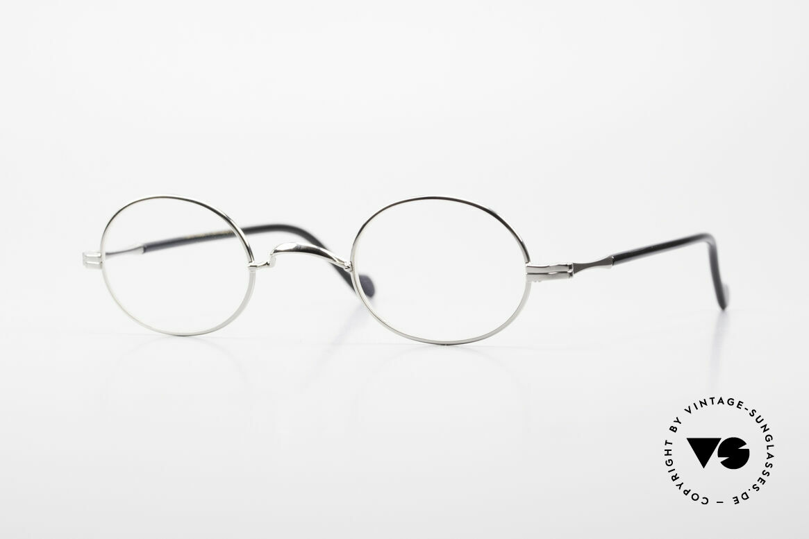 Lunor II A 10 Oval Vintage Frame Platinum, oval Lunor glasses of the Lunor II-A series (A = acetate), Made for Men and Women