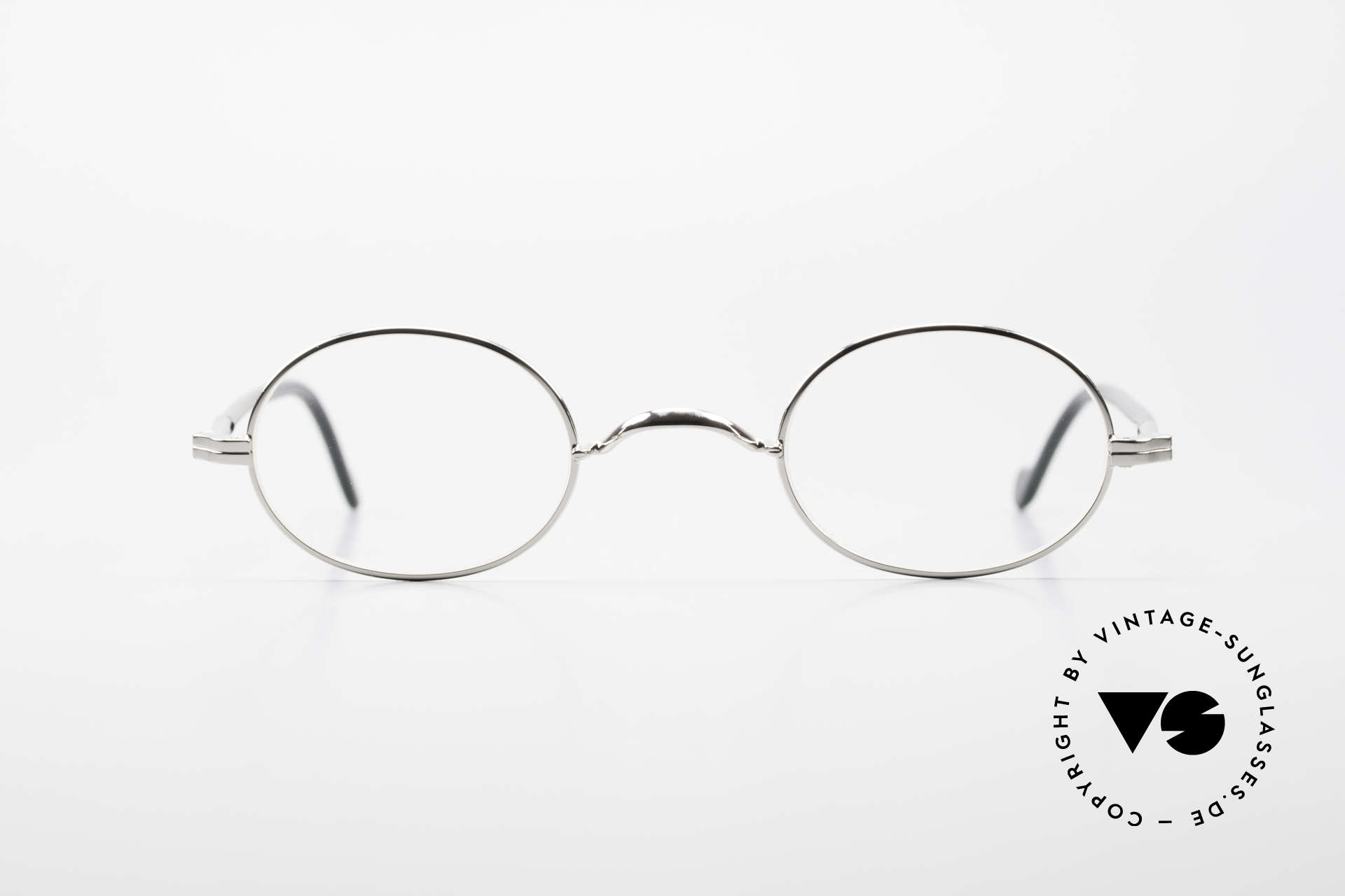 Lunor II A 10 Oval Vintage Frame Platinum, combination: full rimmed metal frame & acetate temples, Made for Men and Women