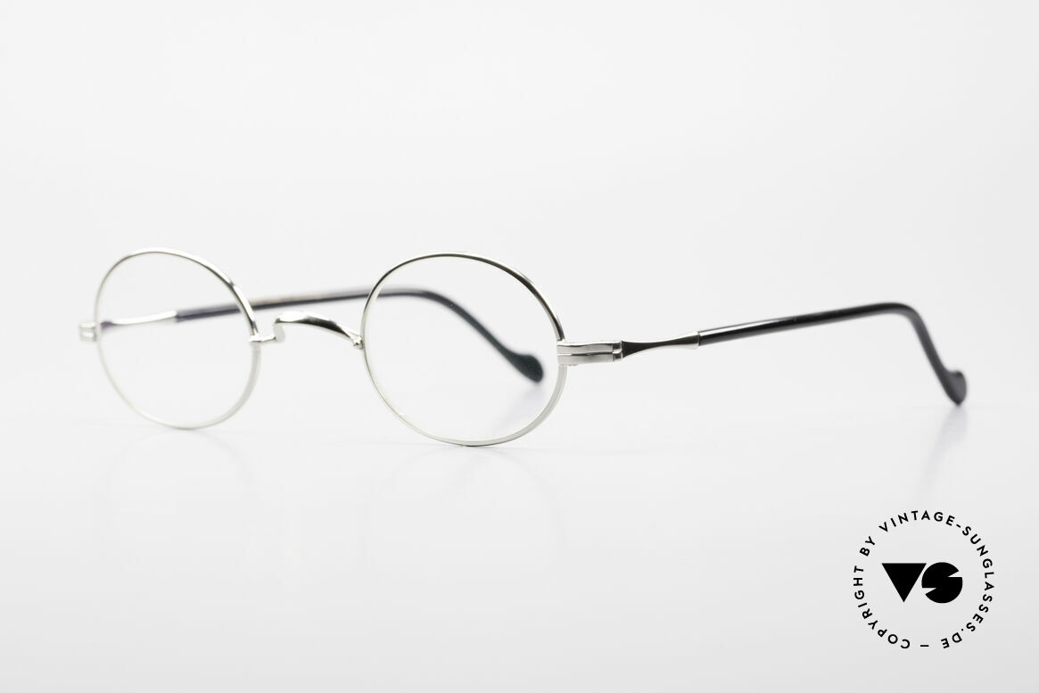 Lunor II A 10 Oval Vintage Frame Platinum, precious platinum-plated, tangible TOP-NOTCH quality, Made for Men and Women