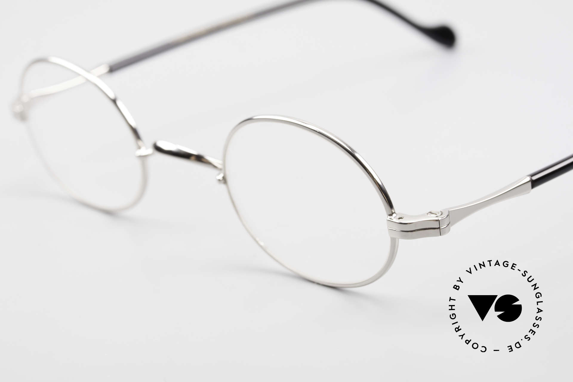 Lunor II A 10 Oval Vintage Frame Platinum, traditional German brand; quality handmade in Germany, Made for Men and Women