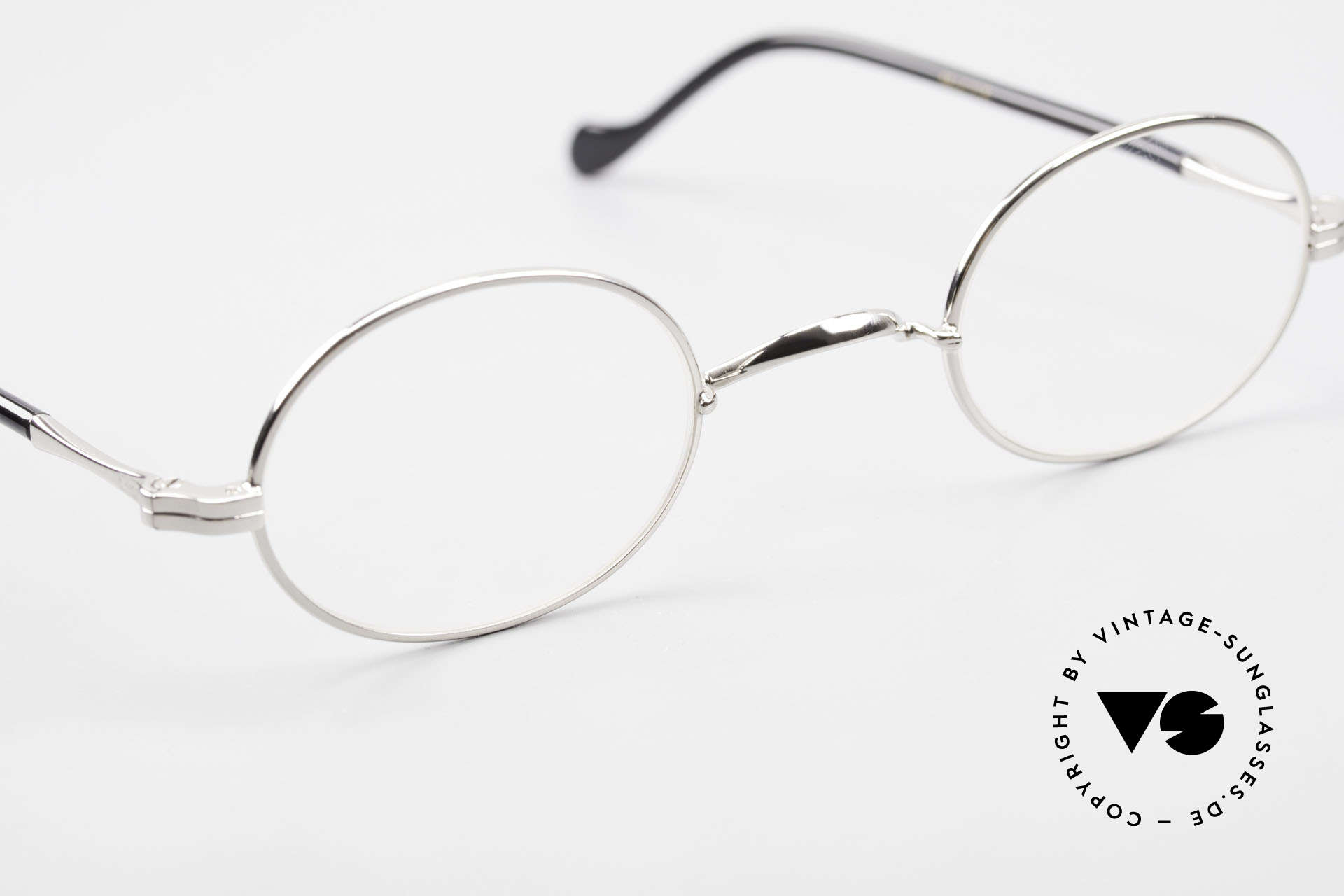 Lunor II A 10 Oval Vintage Frame Platinum, unworn RARITY (for all lovers of quality) from app. 2010, Made for Men and Women