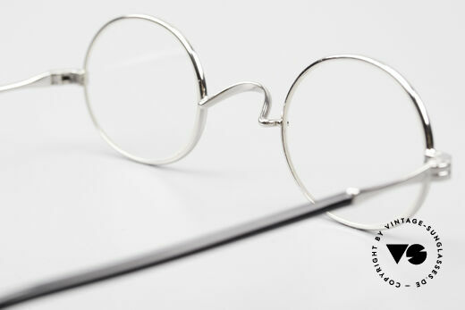 Lunor II A 10 Oval Vintage Frame Platinum, Size: small, Made for Men and Women