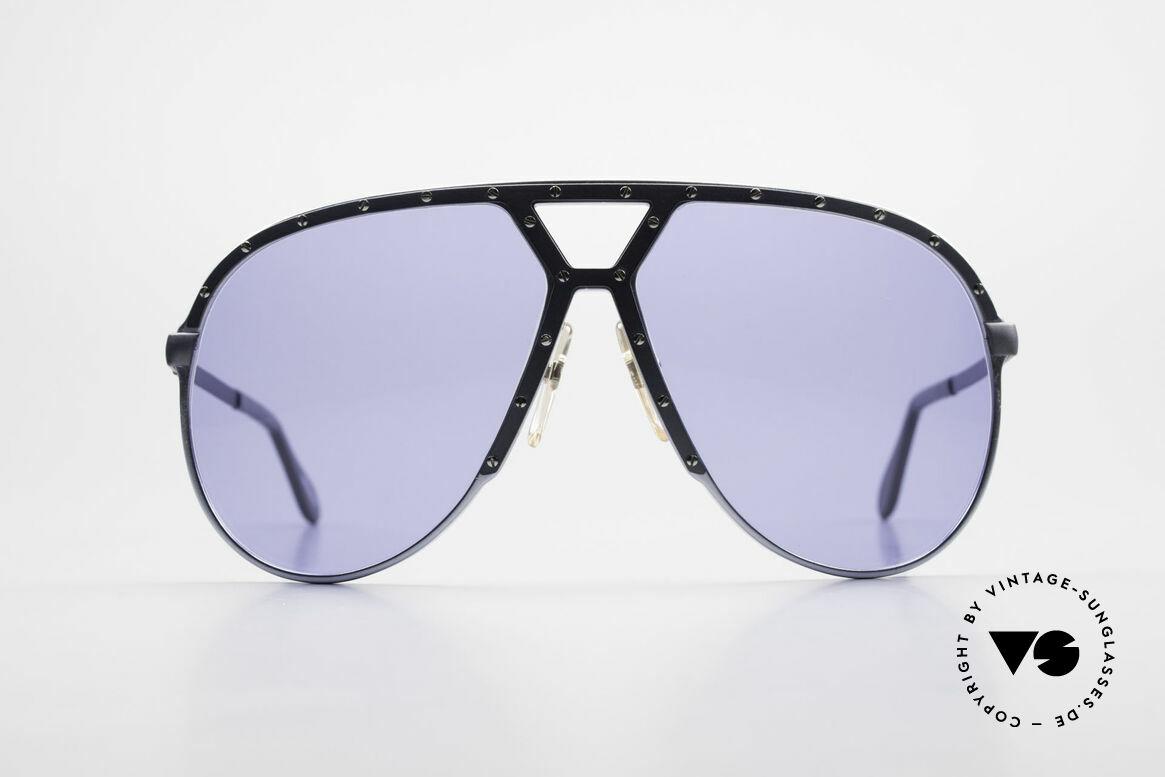 Alpina M1 Old M1 Sunglasses from 1981, true rarity with interesting blue-gray frame finish, Made for Men