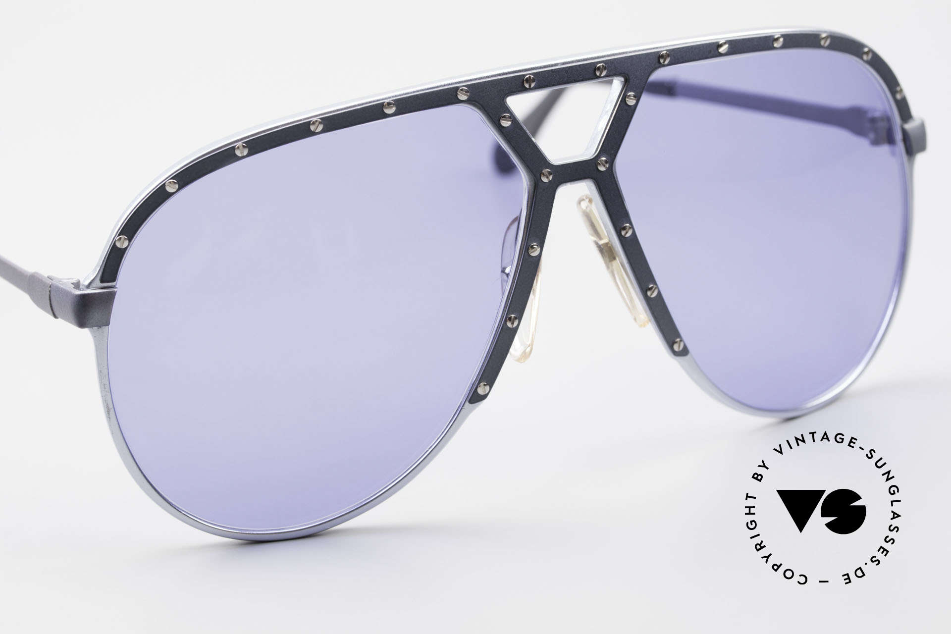 Alpina M1 Old M1 Sunglasses from 1981, unworn with blue sun lenses & with a Bvlgari case, Made for Men