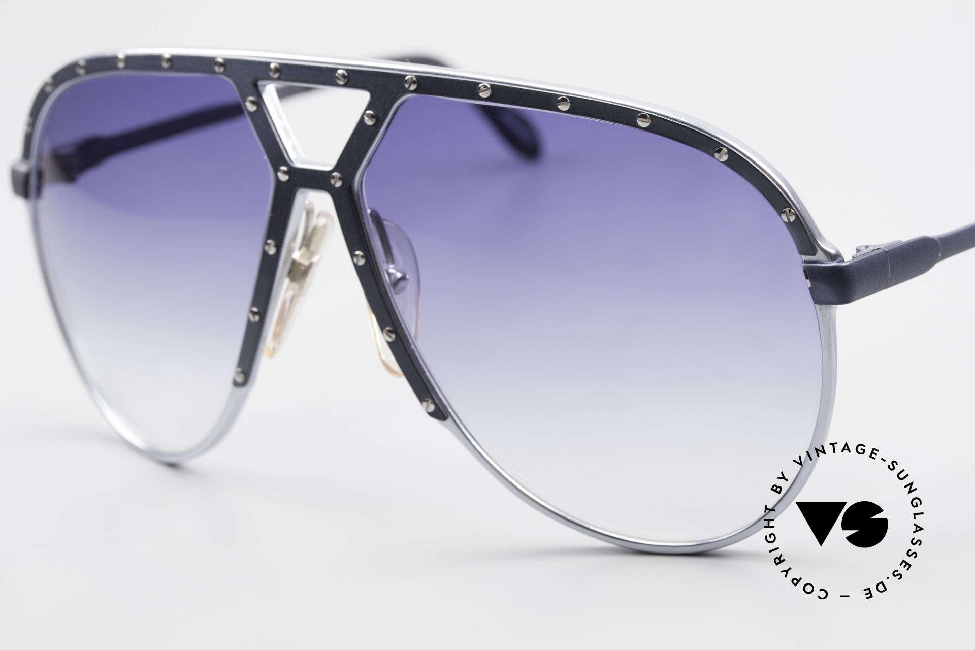 Alpina M1 Extra Large M1 80's Sunglasses, handmade aluminium frame (WEST Germany), 64-14, Made for Men