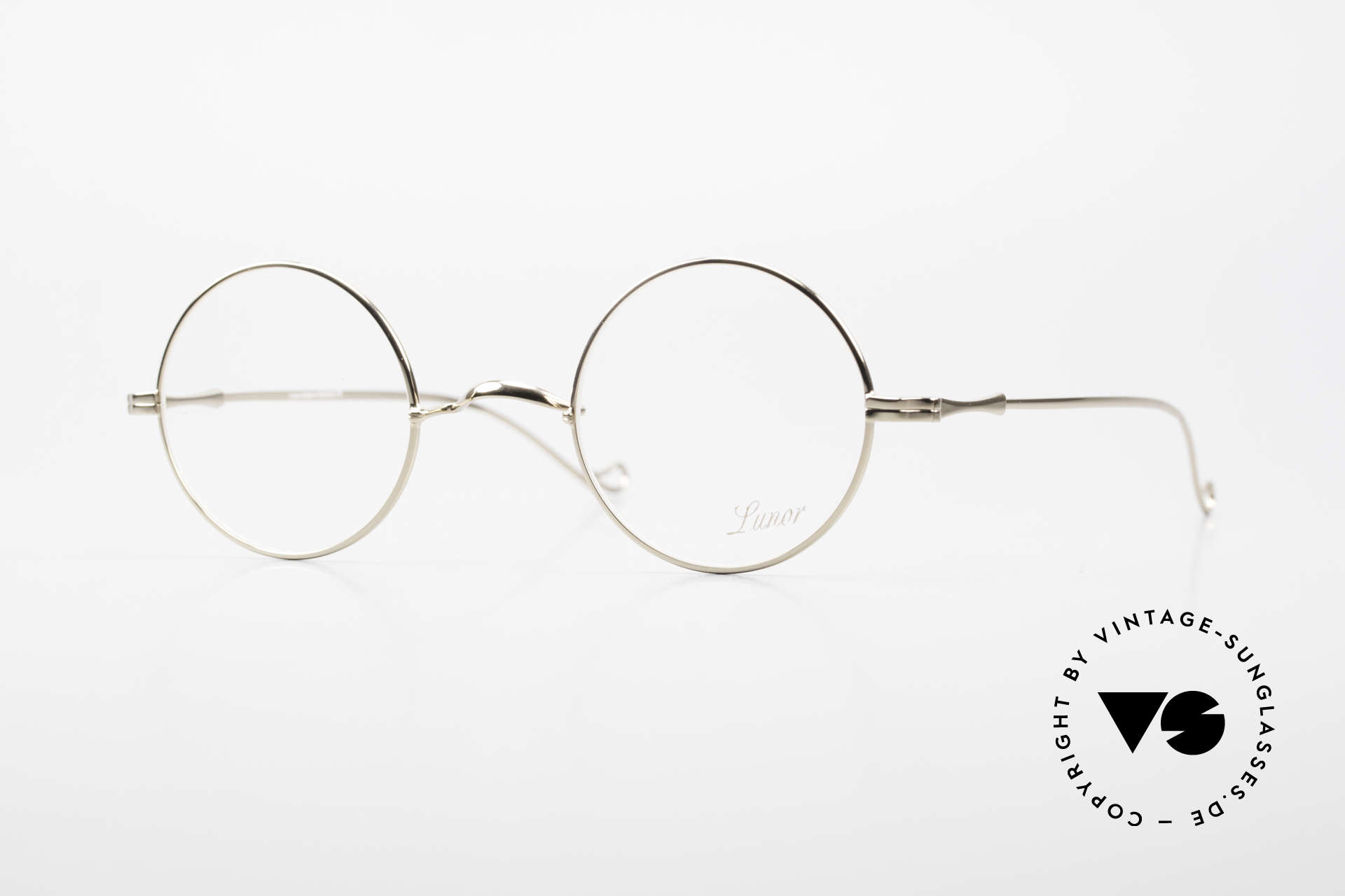 """Lunor II 23 Round Glasses Special Edition, round Lunor eyeglasses of the old """"LUNOR II"""" series, Made for Men and Women"""