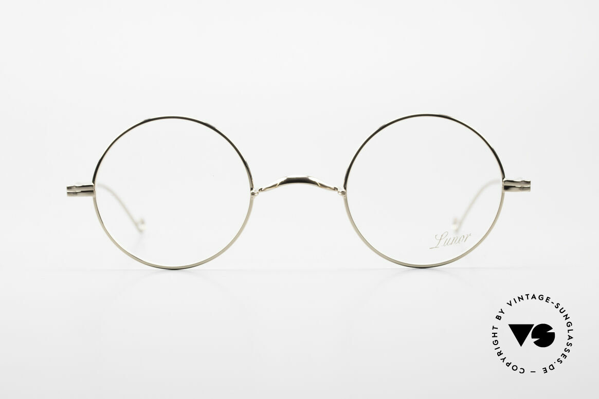 Lunor II 23 Round Glasses Special Edition, precious full rim metal frame; limited special edition, Made for Men and Women
