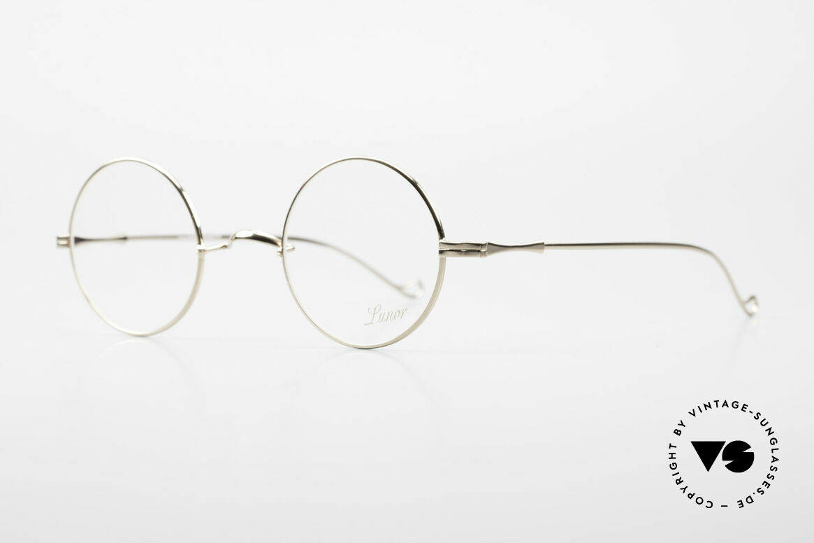 Lunor II 23 Round Glasses Special Edition, circular frame design in M size 42mm with a W bridge, Made for Men and Women