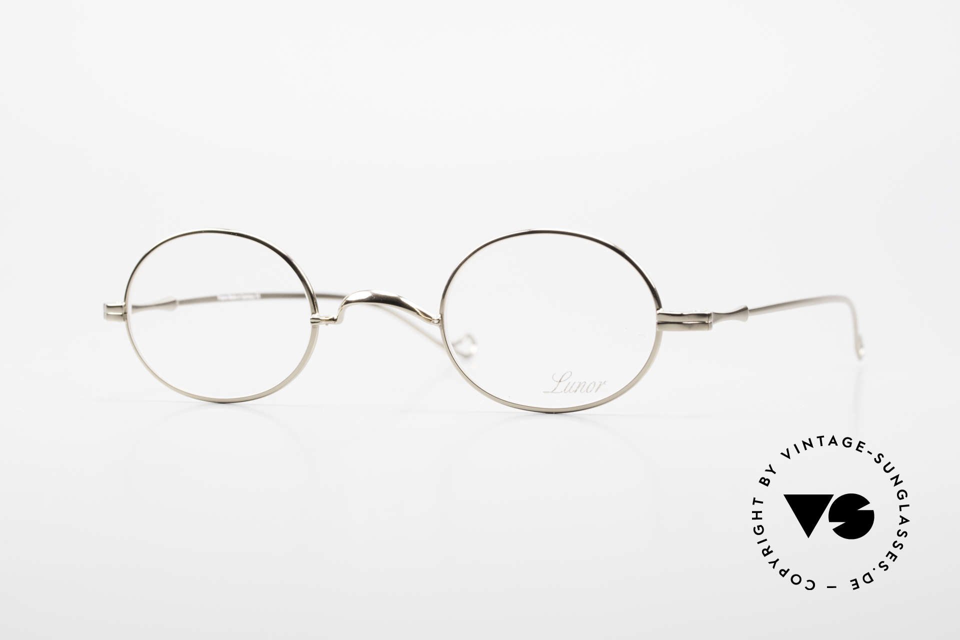 Lunor II 10 Oval Lunor Frame Gold Plated, oval vintage glasses of the Lunor II Series, full rimmed, Made for Men and Women