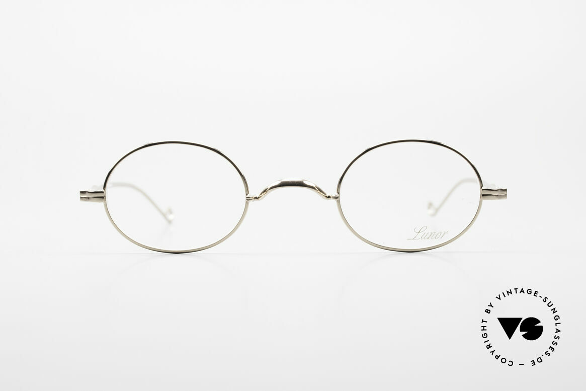 Lunor II 10 Oval Lunor Frame Gold Plated, gold-plated metal frame coated with a potection lacquer, Made for Men and Women