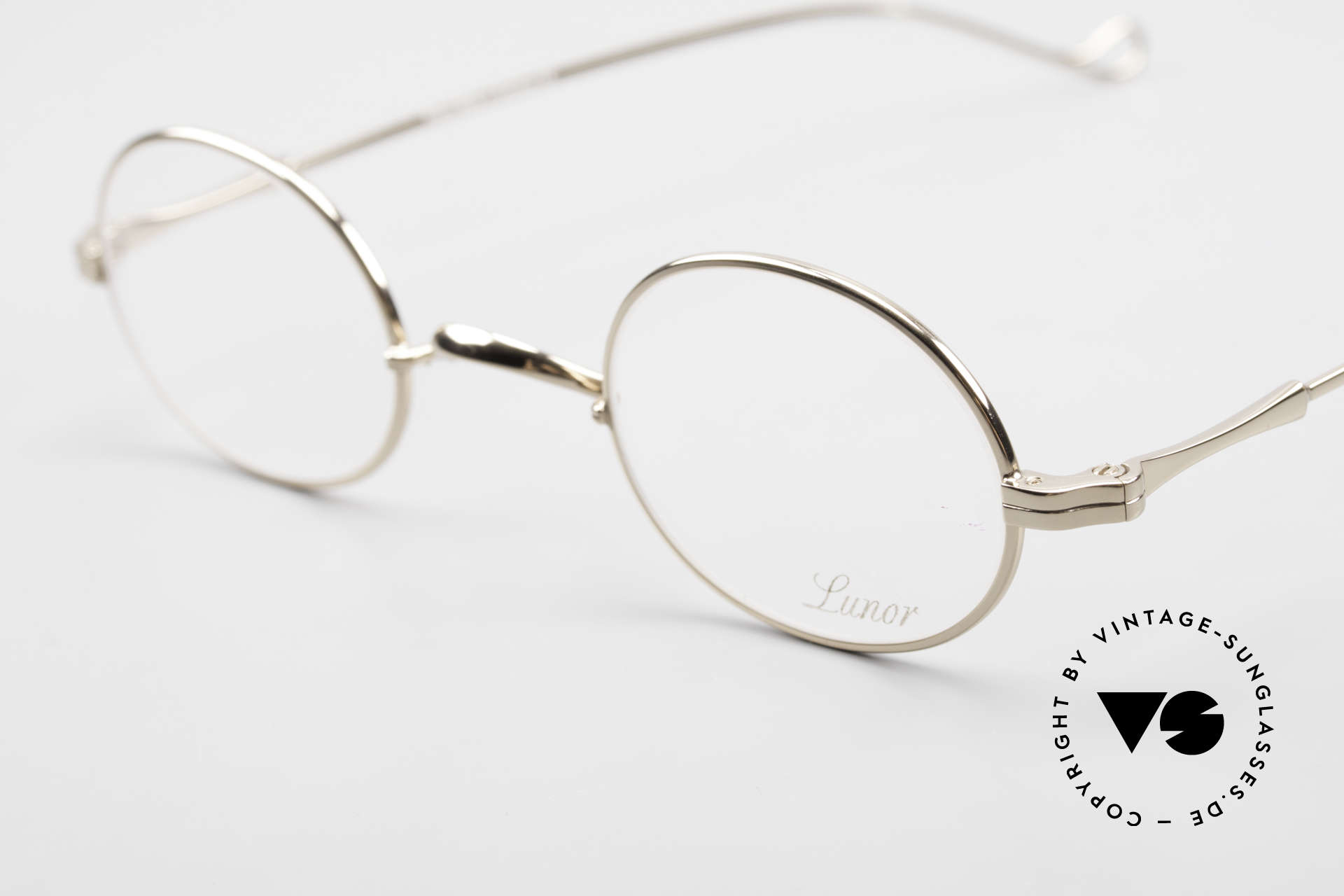 Lunor II 10 Oval Lunor Frame Gold Plated, traditional German brand; quality handmade in Germany, Made for Men and Women