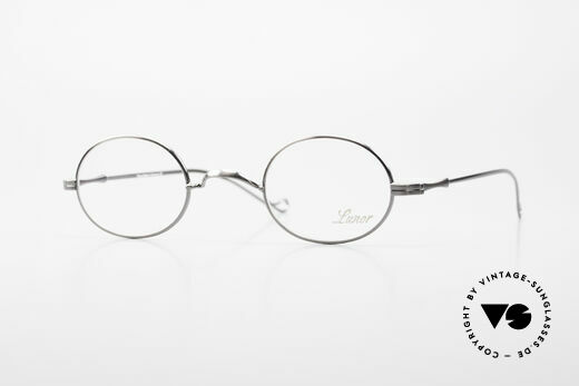 Lunor II 10 Oval Metal Frame Antique Silver Details