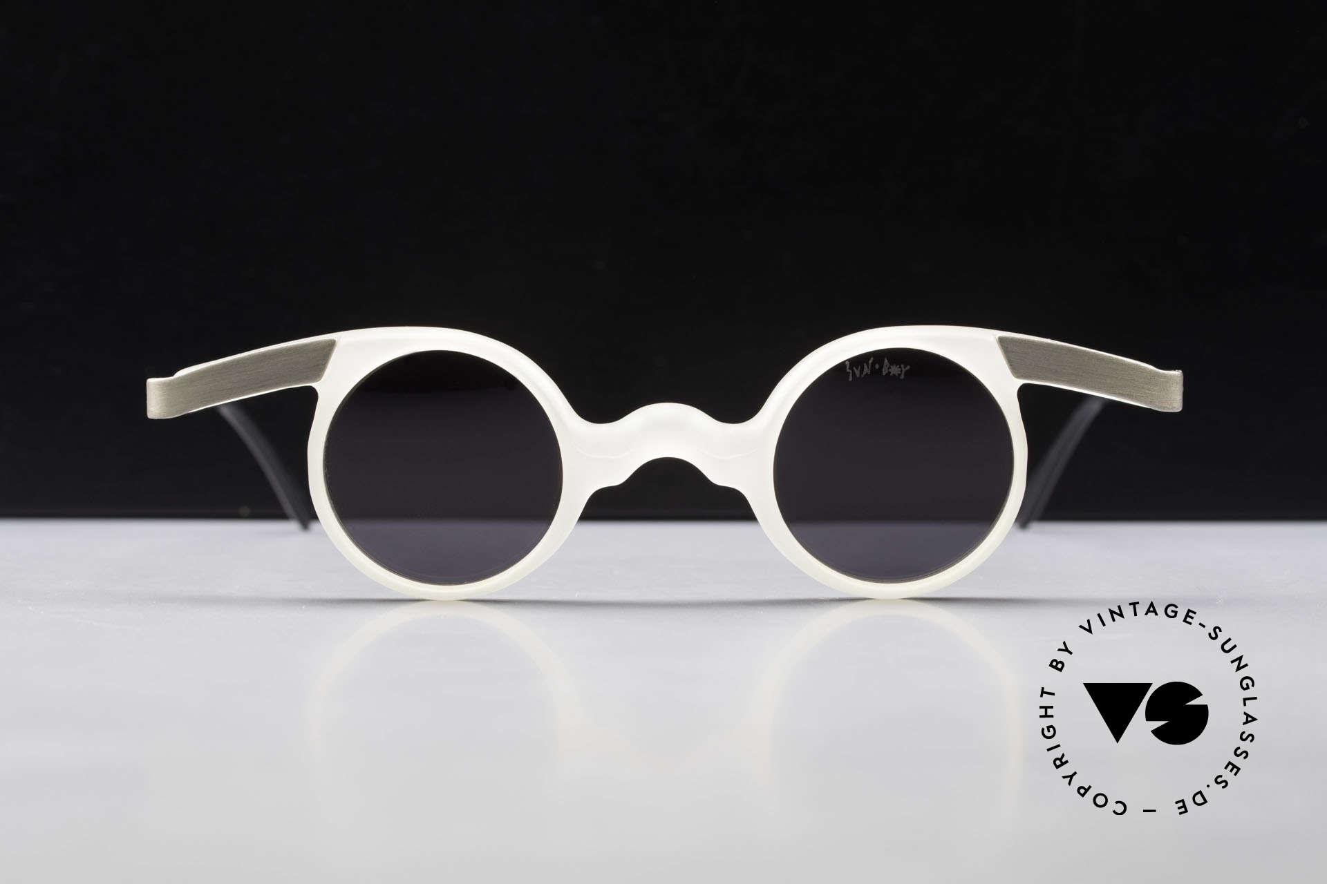 Sunboy SB39 Vintage No Retro Sunglasses, spectacular frame construction - a true eye-catcher, Made for Men and Women