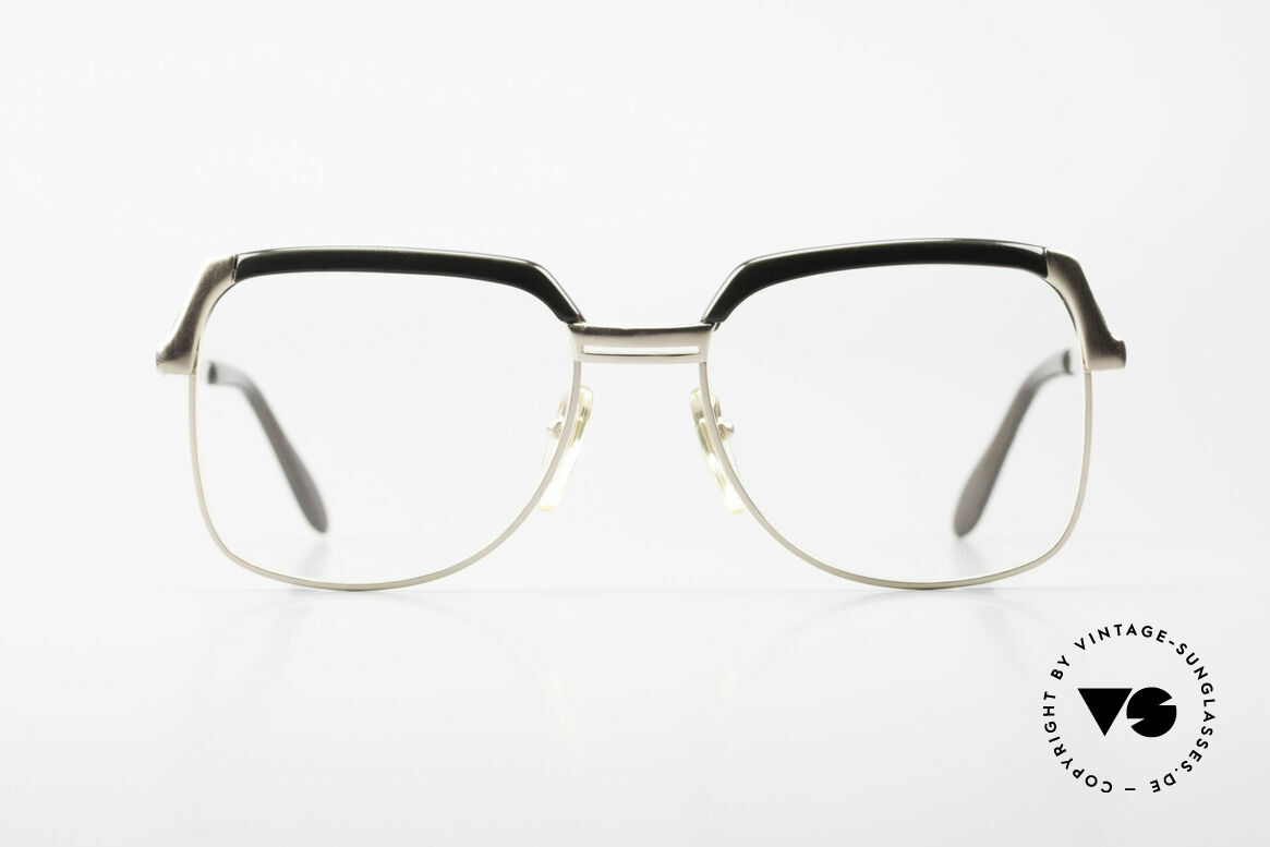 Bausch & Lomb 418 Gold Filled 80's Combi Frame, classic combi glasses: metal frame with plastic bar, Made for Men