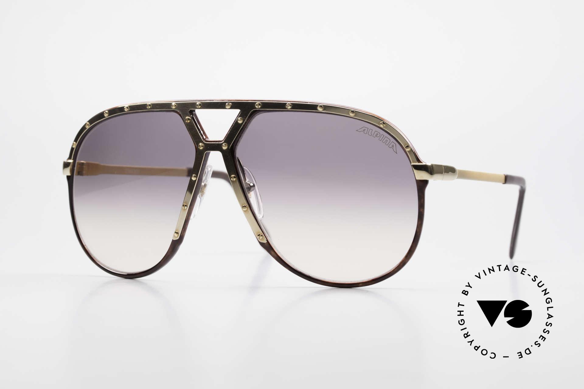 "Alpina M1 Ultra Rare Aviator Sunglasses, large Alpina ""aviator"" sunglasses in size 64/14, Made for Men"