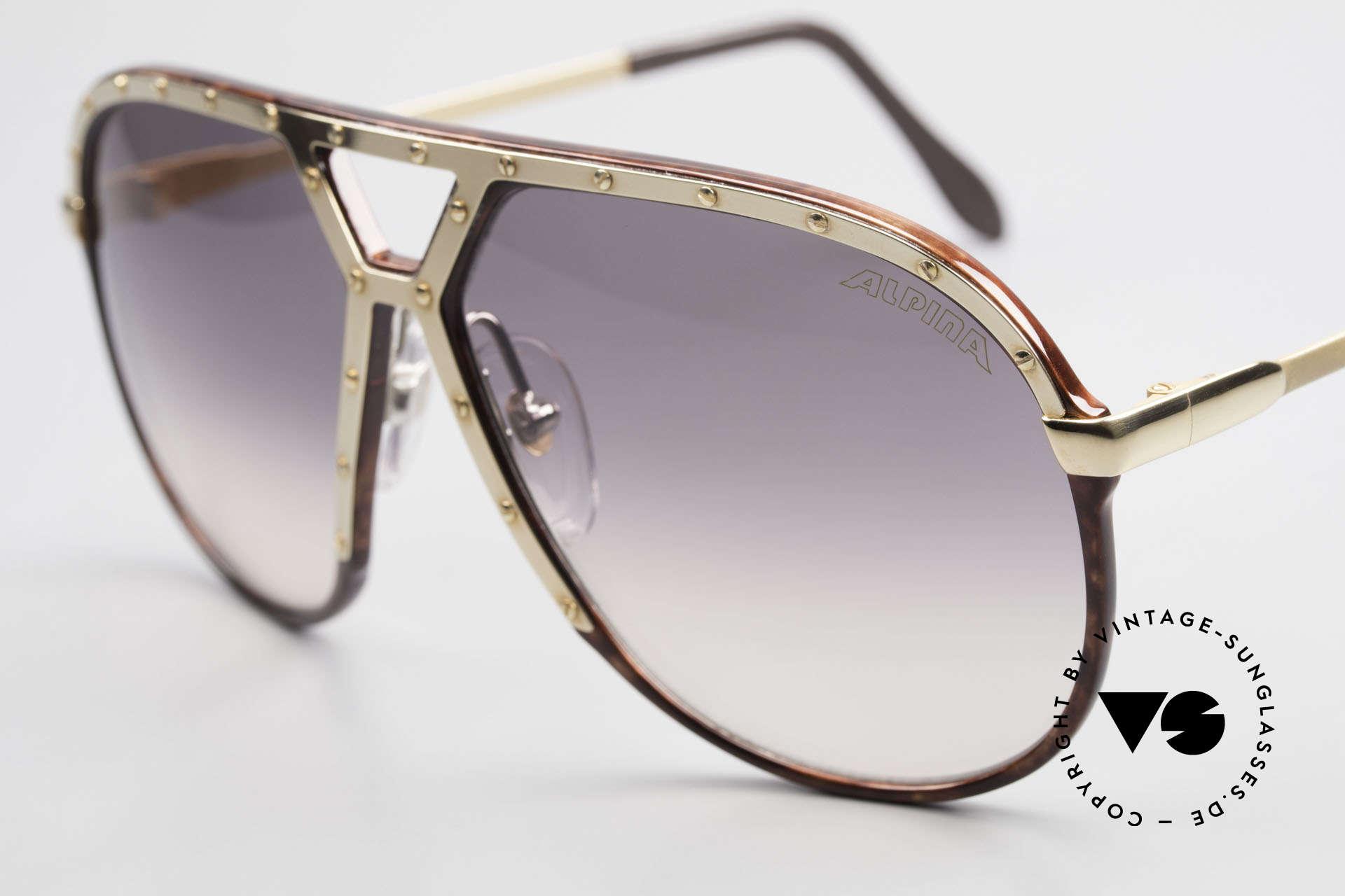 Alpina M1 Ultra Rare Aviator Sunglasses, root wood, golden ornamental cover & 24 screws, Made for Men