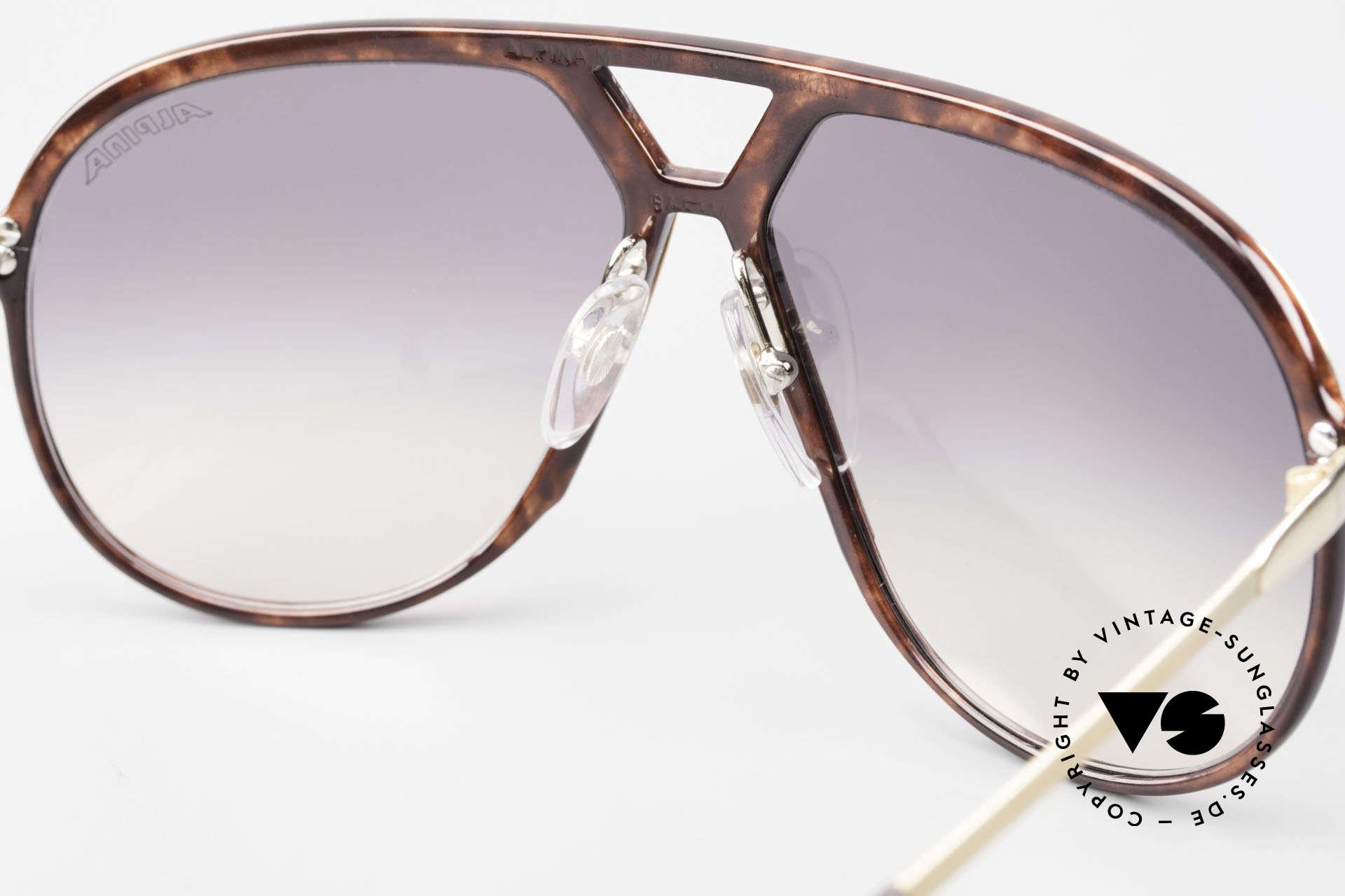 Alpina M1 Ultra Rare Aviator Sunglasses, Stevie Wonder made this model popular in the 80s, Made for Men