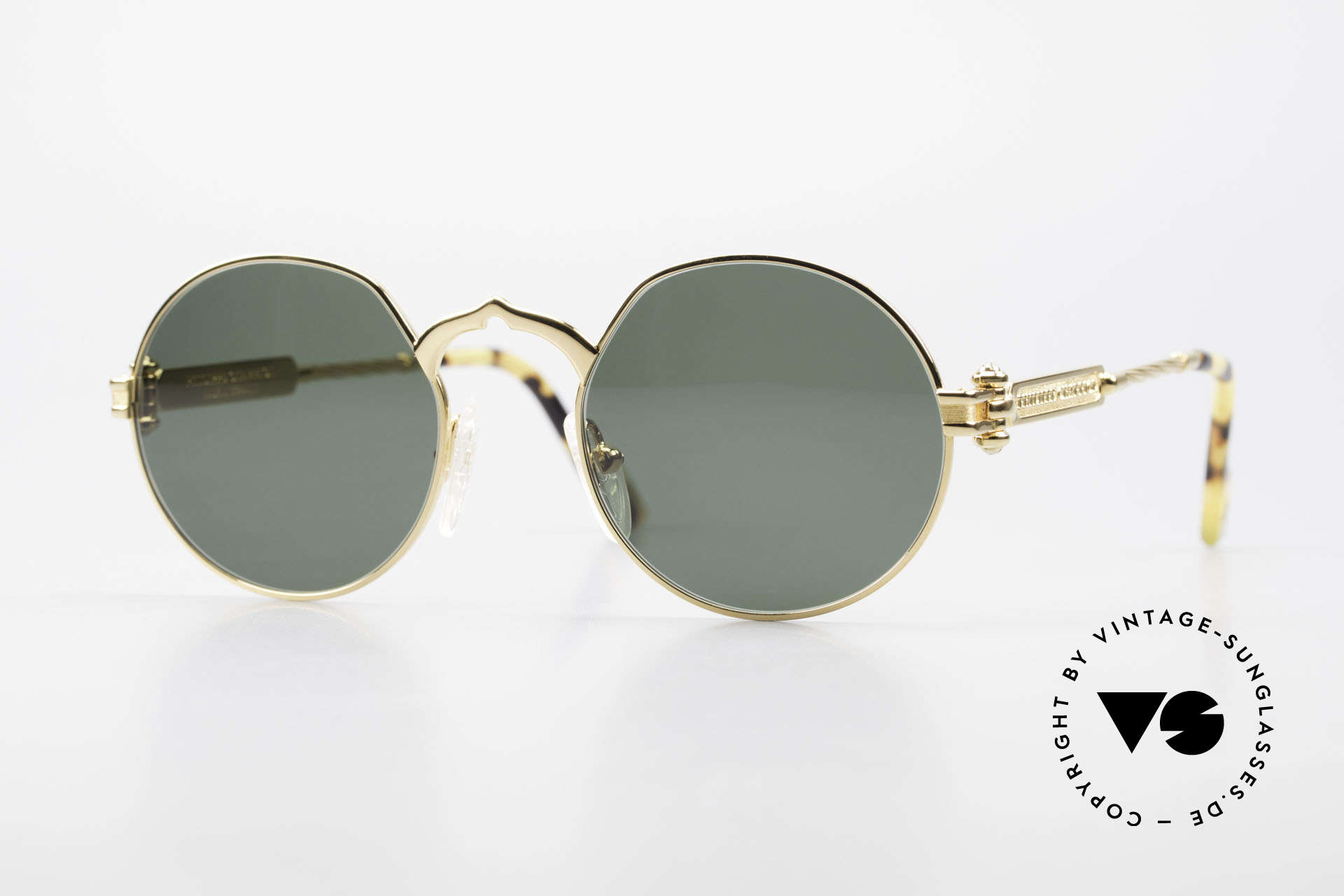 Philippe Charriol 92CPT Insider Luxury Sunglasses 80's, round 80's insider sunglasses for all lovers of luxury, Made for Men