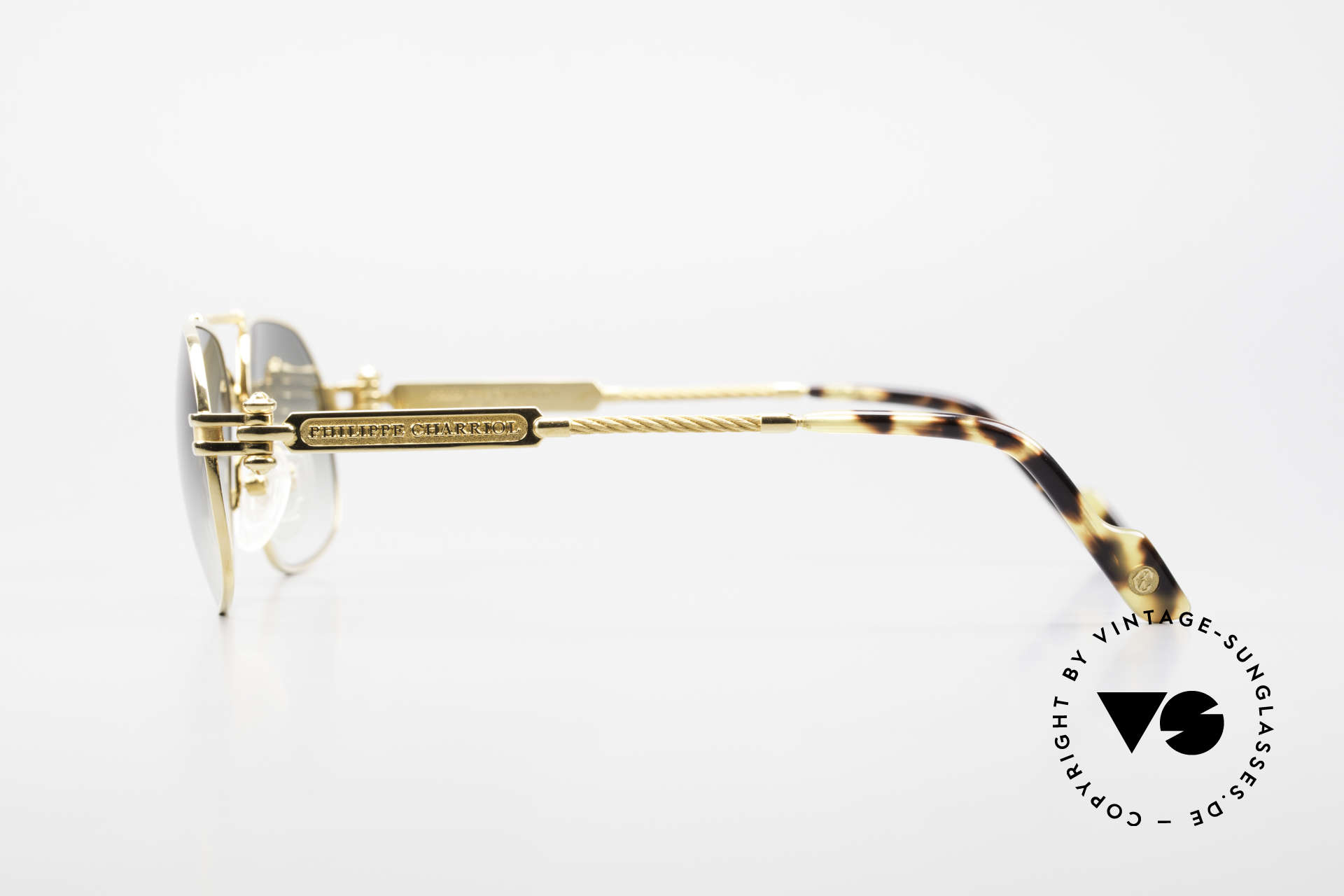 Philippe Charriol 90PP Insider 80's Luxury Sunglasses, e.g. the Charriol sunglasses are double GOLD-plated, Made for Men