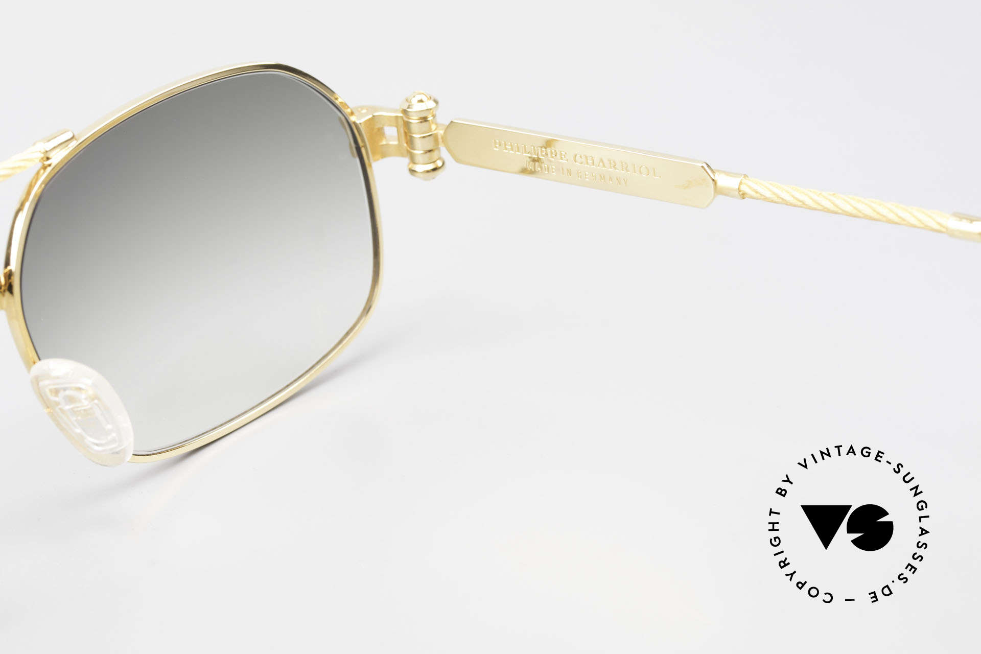 Philippe Charriol 90PP Insider 80's Luxury Sunglasses, Size: large, Made for Men