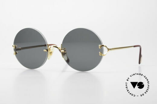 Cartier Madison Small Round Luxury Sunglasses Details