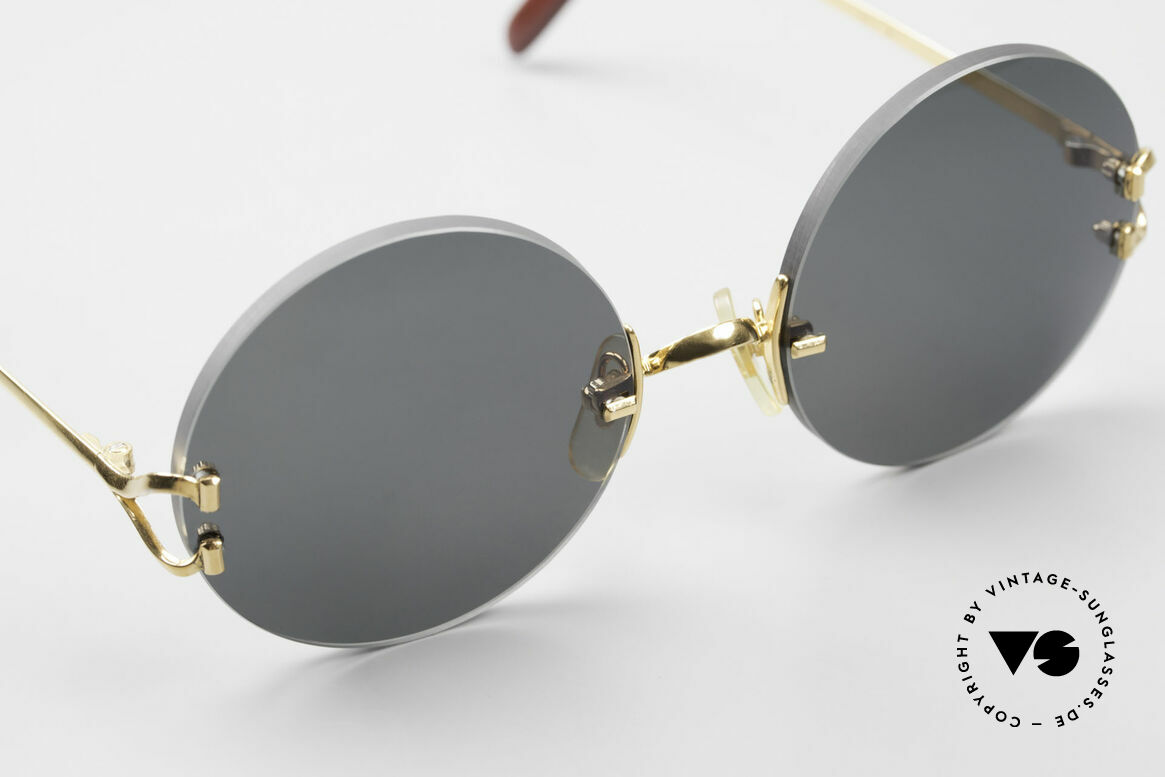 Cartier Madison Small Round Luxury Sunglasses, 130mm temples & 125mm width = it's a SMALL size!, Made for Men and Women