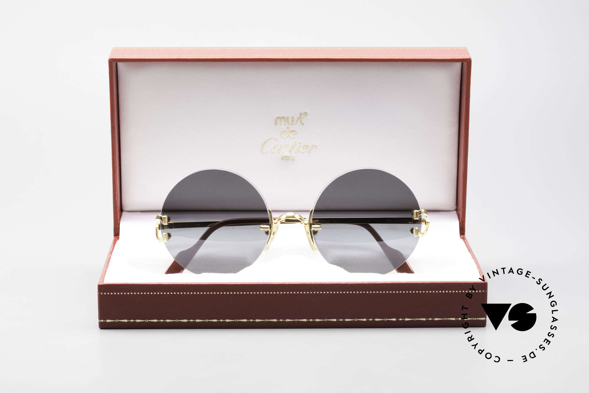 Cartier Madison Small Round Luxury Sunglasses, Size: small, Made for Men and Women
