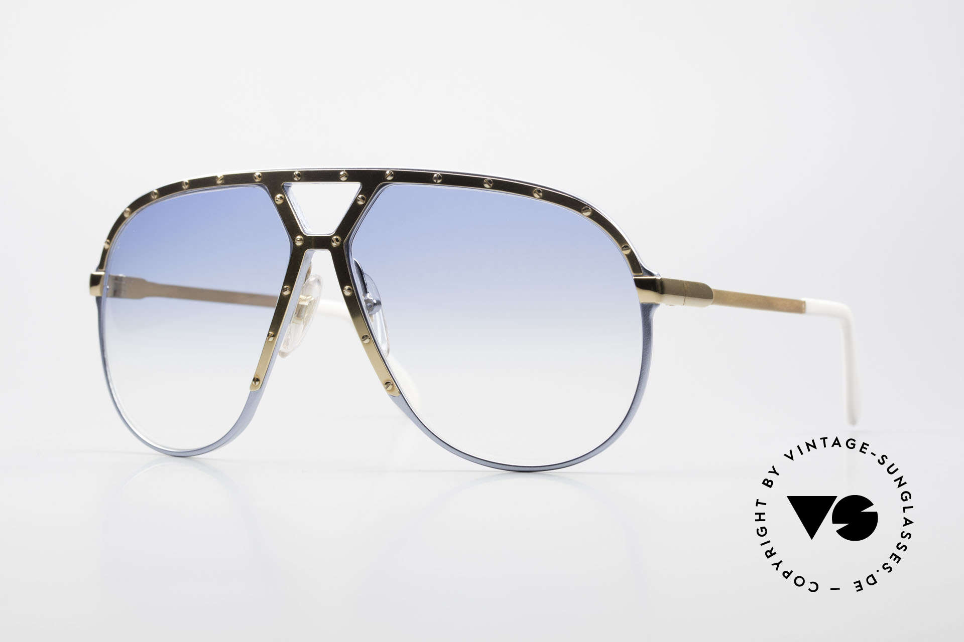 Alpina M1 Limited 80's Baby-Blue Gold, incredible rare vintage Alpina M1 shades from 1986, Made for Men