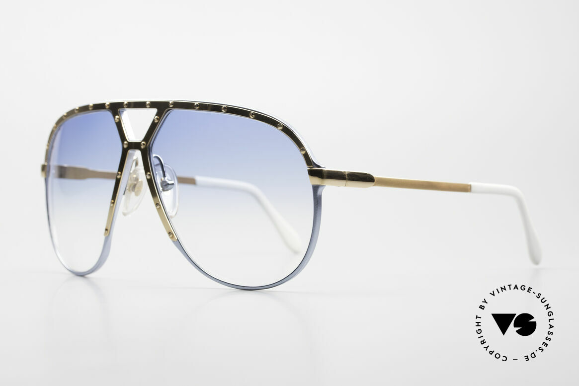 Alpina M1 Limited 80's Baby-Blue Gold, with light blue-gradient sun lenses (100% UV prot.), Made for Men