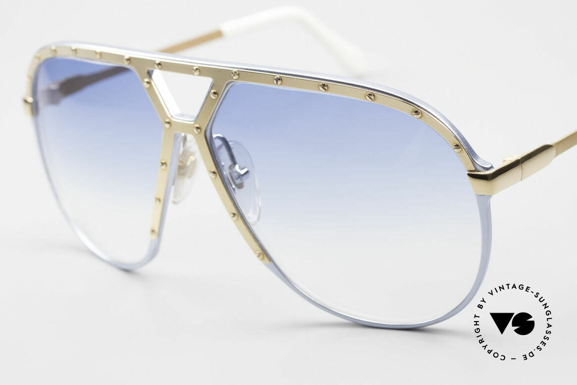Alpina M1 Limited 80's Baby-Blue Gold, iconic 80's fashion accessory; Stevie Wonder style, Made for Men