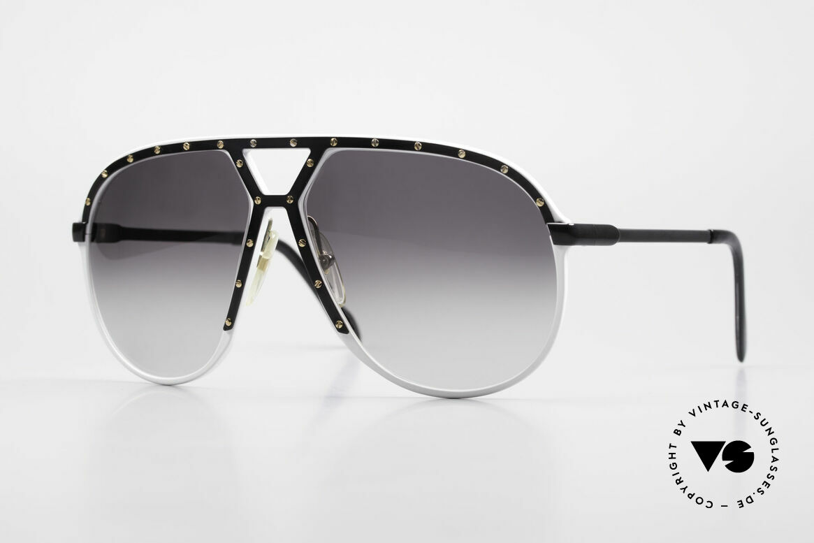 Alpina M1 Limited 80's White Black Gold, old vintage Alpina M1 aviator shades from 1986, Made for Men