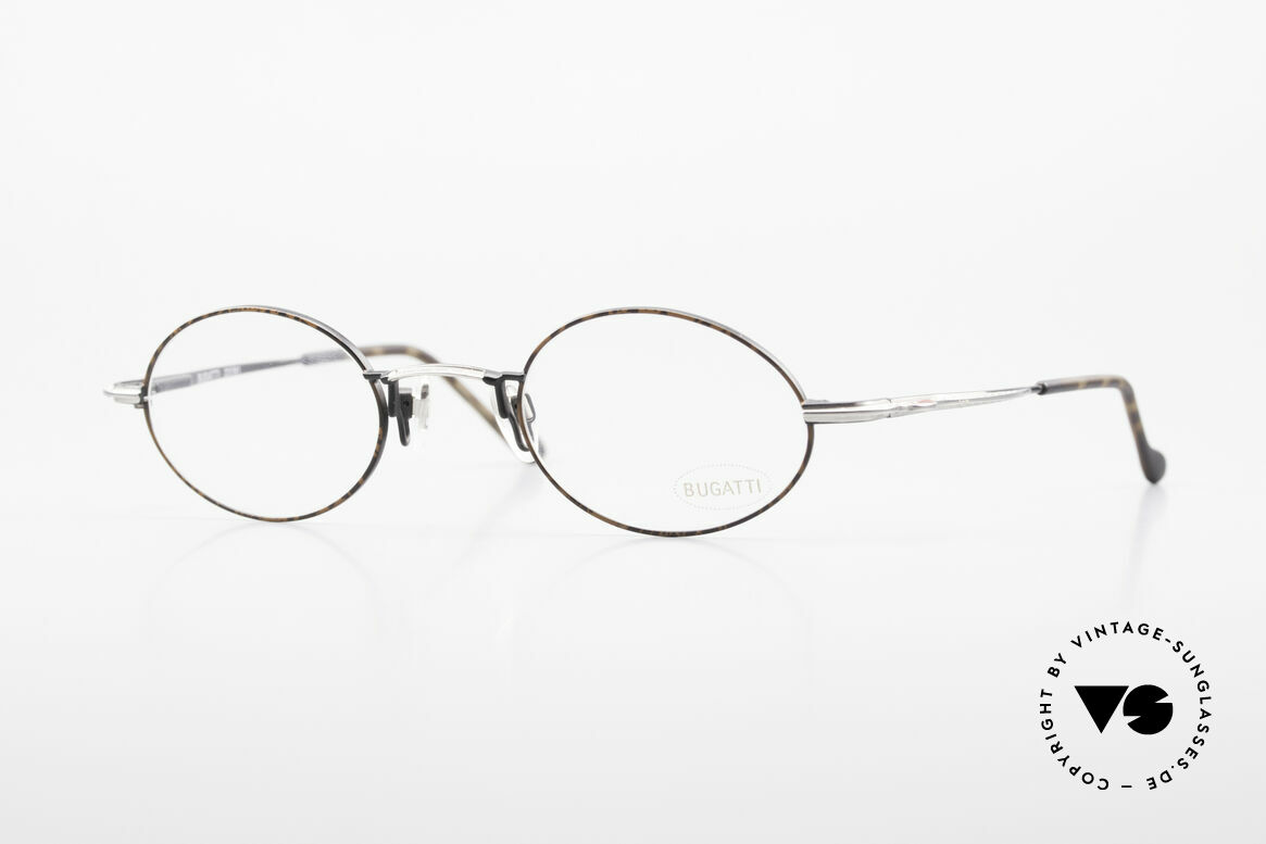 Bugatti 23191 Oval Luxury Eyeglass-Frame, very elegant vintage designer eyeglasses by Bugatti, Made for Men