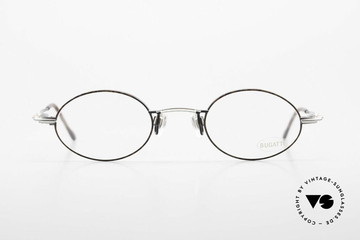 Bugatti 23191 Oval Luxury Eyeglass-Frame, ergonomic frame design with flexible spring hinges, Made for Men