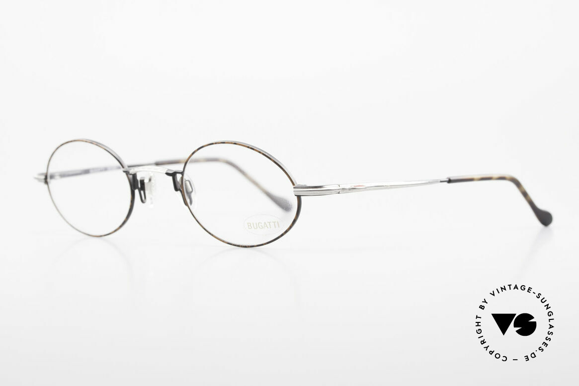 Bugatti 23191 Oval Luxury Eyeglass-Frame, made around 1995 in France; premium craftsmanship, Made for Men