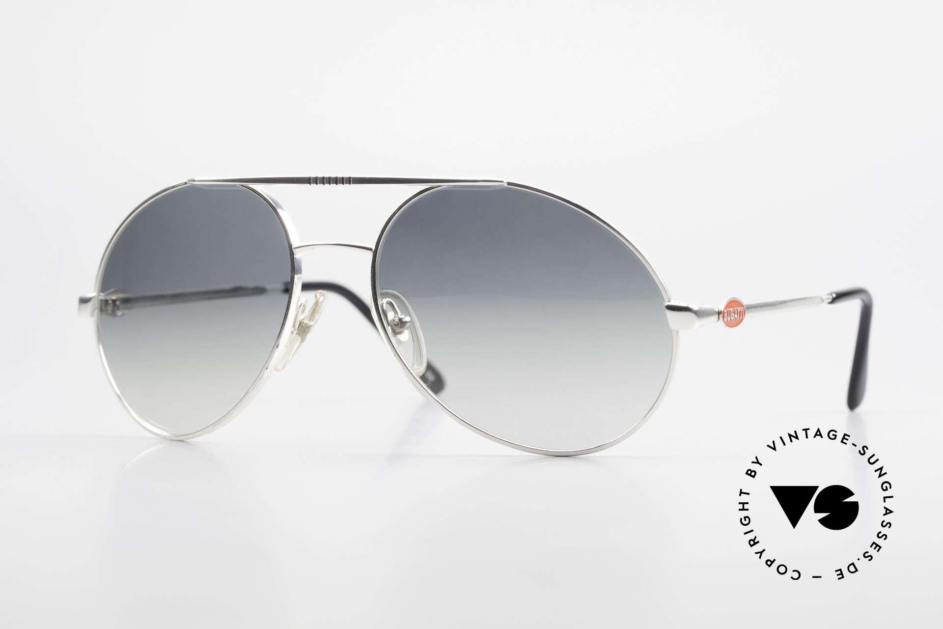 Bugatti 65996 Costly Mirrored Sun Lenses, rare VINTAGE Bugatti luxury sunglasses, 80's, Made for Men