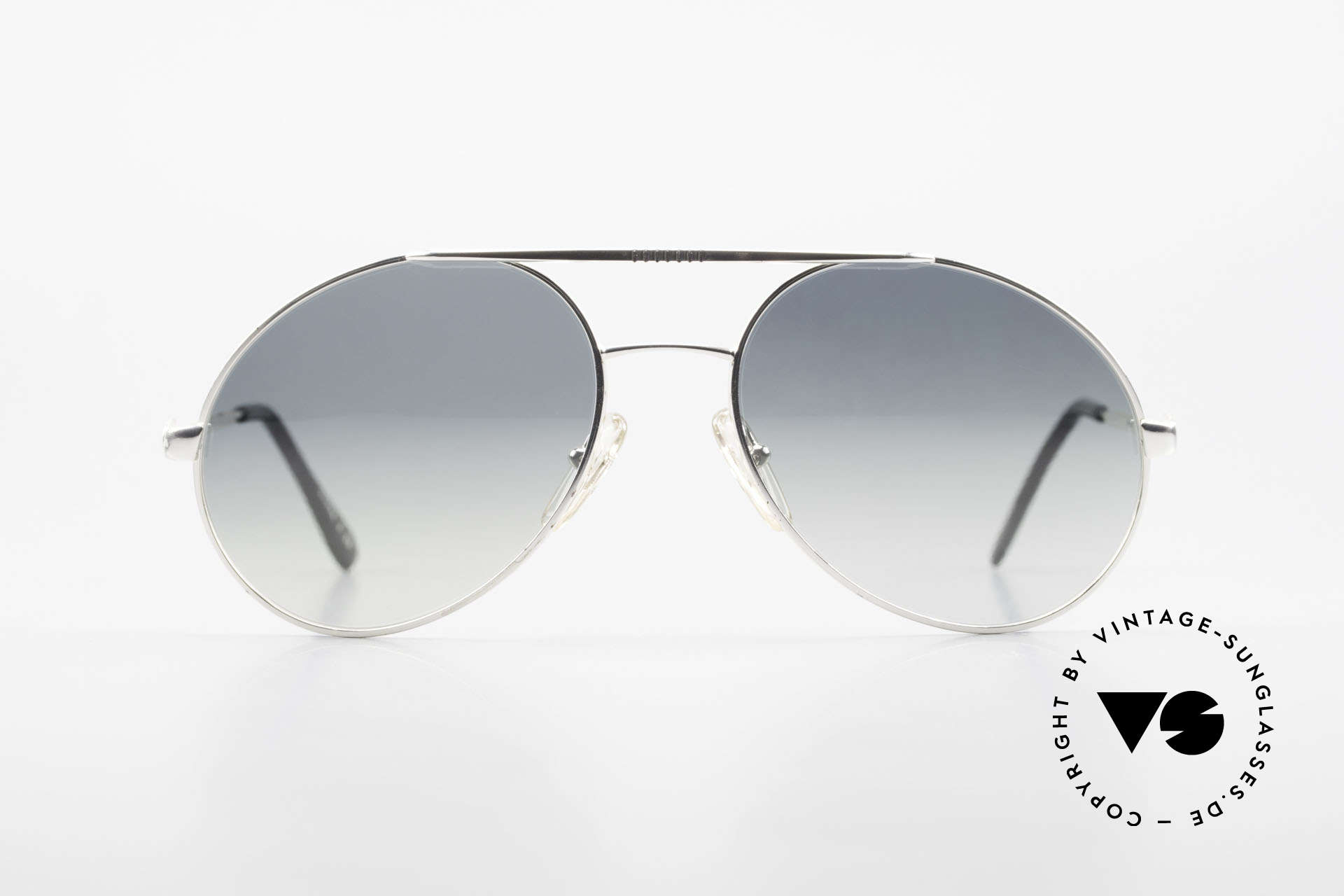Bugatti 65996 Costly Mirrored Sun Lenses, legendary vintage BUGATTI 'tear drop' design, Made for Men