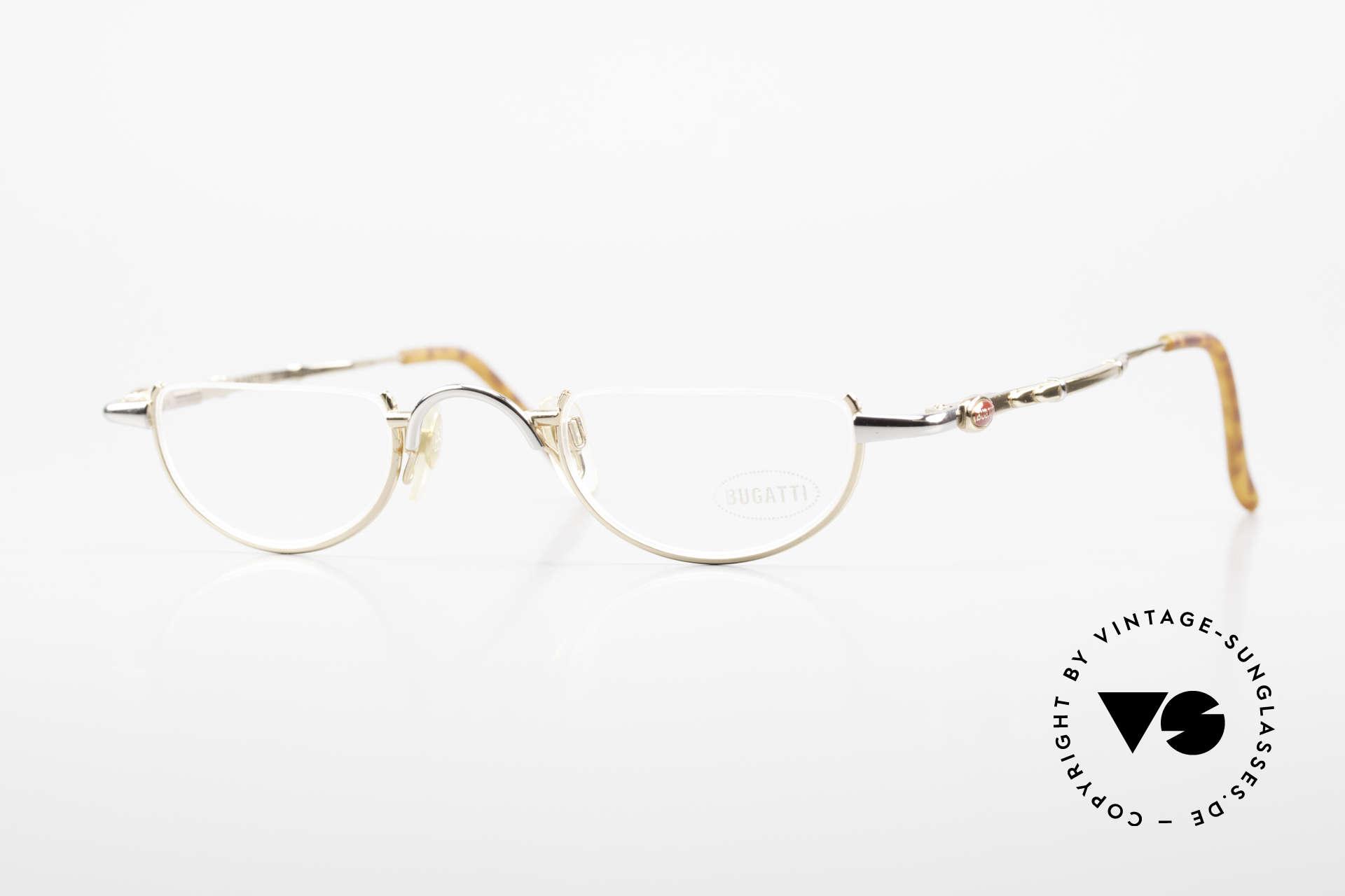 Bugatti 28108 Men's Reading Frame Bicolor, very noble men's reading eyeglass-frame by Bugatti, Made for Men