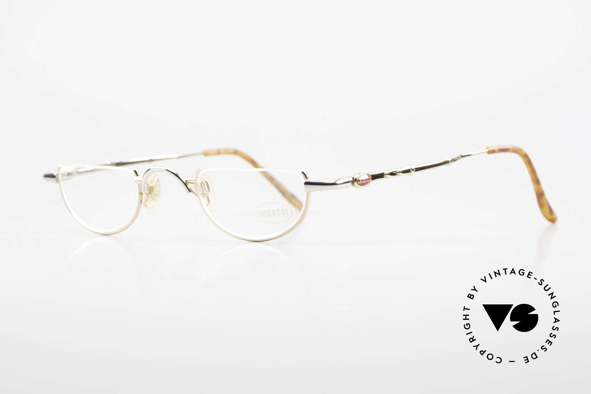 Bugatti 28108 Men's Reading Frame Bicolor, the temples are shaped like a leaf spring, UNIQUE!, Made for Men