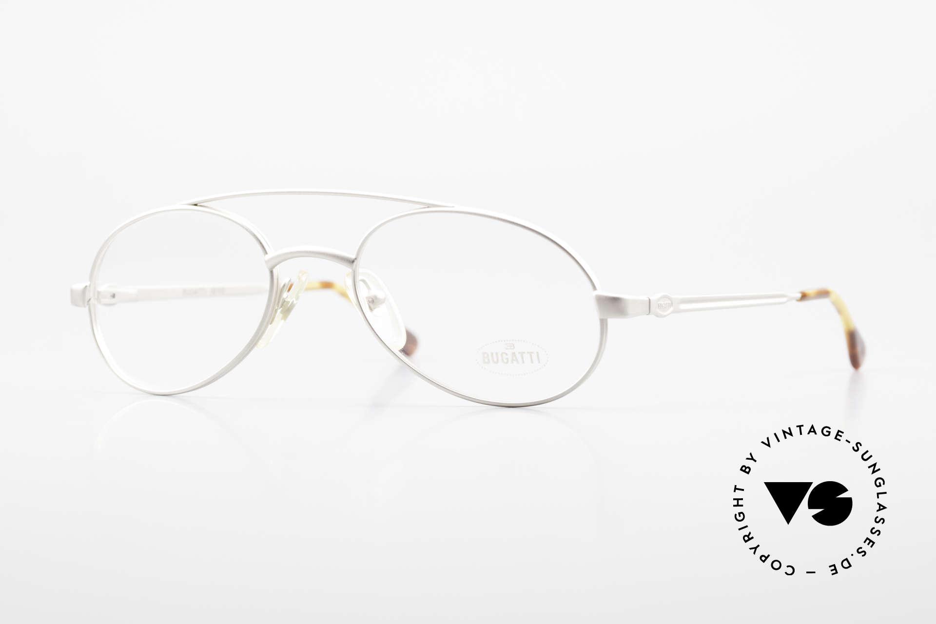 Bugatti 08105 Old Vintage Glasses 80's Men, old Bugatti glasses, dull gray / titanium, 1980's, Made for Men