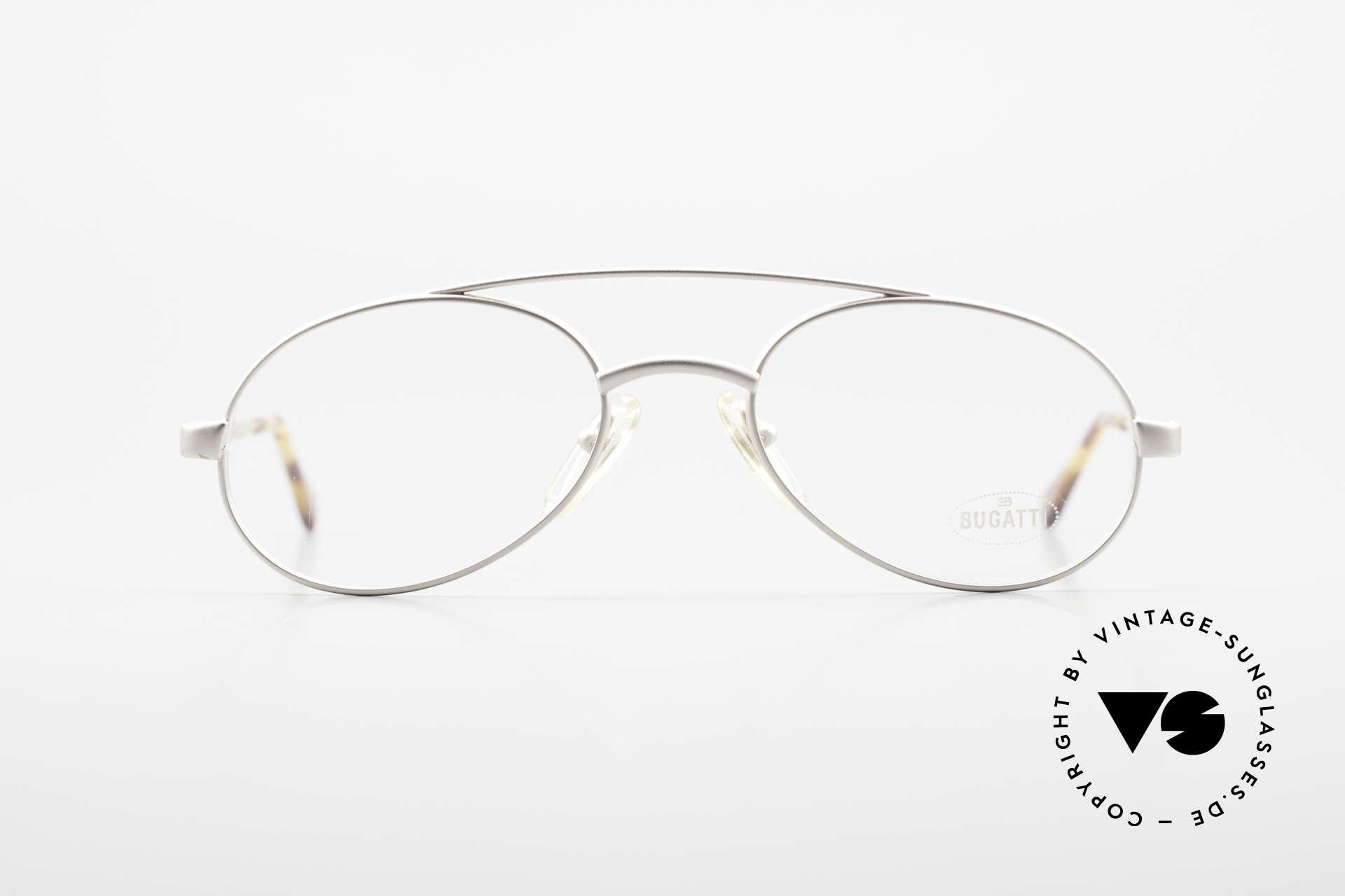 Bugatti 08105 Old Vintage Glasses 80's Men, characteristic men's design by Bugatti; tear drop, Made for Men
