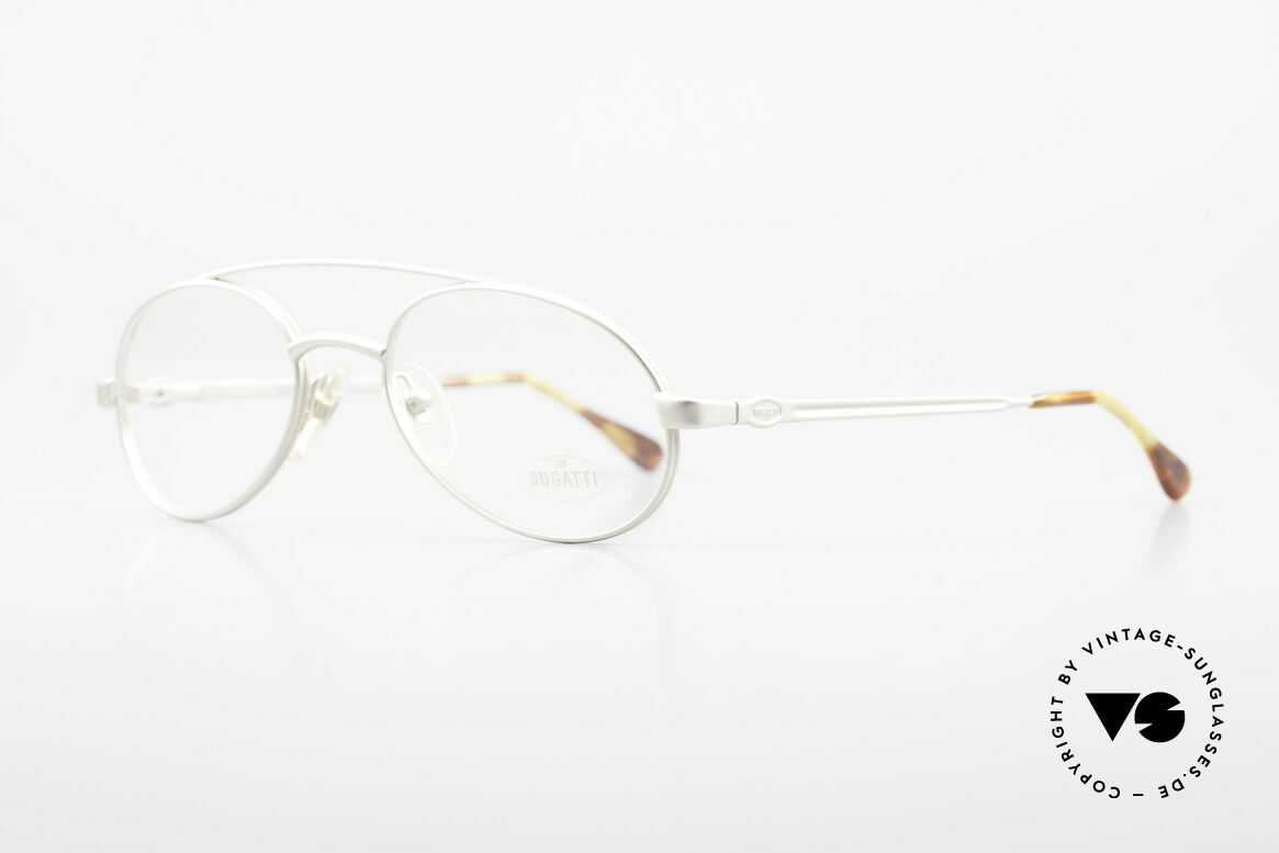 Bugatti 08105 Old Vintage Glasses 80's Men, noble spring temples & top-notch overall quality, Made for Men